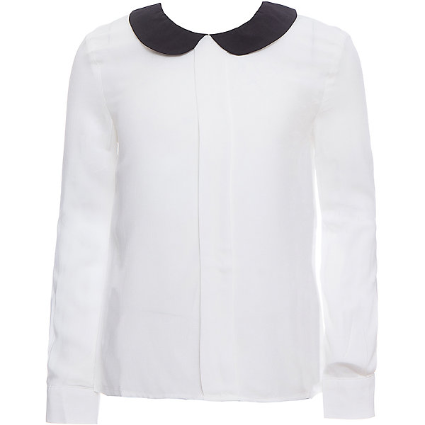 Блузка SELA для девочкиБлузки и рубашки<br>Характеристики товара:<br><br>• цвет: молочный;<br>• состав: 100% вискоза;<br>• сезон: демисезон;<br>• особенности: школьная;<br>• свободный крой;<br>• застежка: пуговица<br>• манжеты на пуговице<br>• рукав: длинный;<br>• страна бренда: Россия;<br>• страна изготовитель: Китай.<br><br>Школьная блузка с длинным рукавом для девочки. Застегивается на пуговицу сзади для удобства надевания через голову, манжеты рукавов на одной пуговице. Модель выполнена в молочном цвете с контрастным темным воротником.<br><br>Блузку Sela (Села) для девочки можно купить в нашем интернет-магазине.<br>Ширина мм: 186; Глубина мм: 87; Высота мм: 198; Вес г: 197; Цвет: белый; Возраст от месяцев: 108; Возраст до месяцев: 120; Пол: Женский; Возраст: Детский; Размер: 140,122,152,146,134,128; SKU: 7009485;