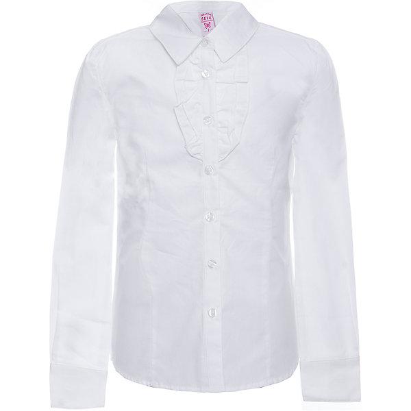 Блуза SELA для девочкиБлузки и рубашки<br>Характеристики товара:<br><br>• цвет: белый;<br>• состав: 100% хлопок;<br>• сезон: демисезон;<br>• особенности: школьная;<br>• застежка: пуговицы;<br>• рукав: длинный;<br>• страна бренда: Россия;<br>• страна изготовитель: Китай.<br><br>Школьная блузка с длинным рукавом для девочки. Белая блуза застегивается на пуговицы, манжеты застегиваются на пуговицу. Изготовлена из 100% хлопка.<br><br>Блузу Sela (Села) для девочки можно купить в нашем интернет-магазине.<br><br>Ширина мм: 186<br>Глубина мм: 87<br>Высота мм: 198<br>Вес г: 197<br>Цвет: белый<br>Возраст от месяцев: 72<br>Возраст до месяцев: 84<br>Пол: Женский<br>Возраст: Детский<br>Размер: 122,152,146,140,134,128<br>SKU: 7009500