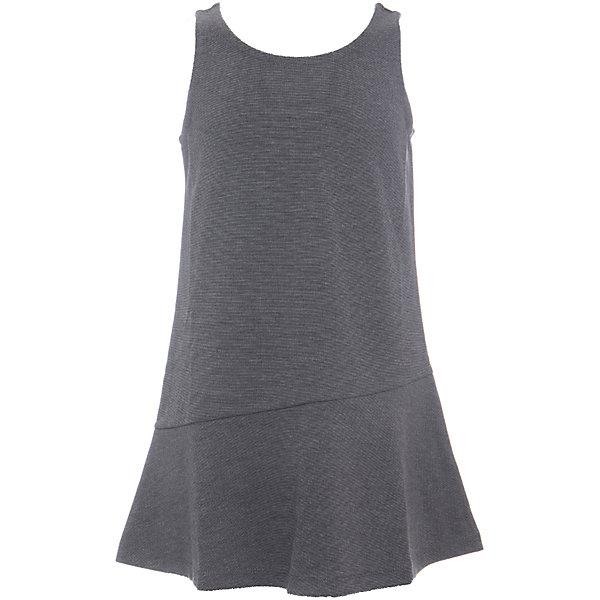 Платье SELA для девочкиПлатья и сарафаны<br>Характеристики товара:<br><br>• цвет: темно-серый меланж;<br>• состав: 75% полиэстер, 21% вискоза, 4% эластан;<br>• сезон: демисезон;<br>• особенности: школьный, повседневный;<br>• без рукавов;<br>• полуприлегающий, расширенный к низу силуэт;<br>• страна бренда: Россия;<br>• страна изготовитель: Китай.<br><br>Школьный сарафан без рукавов для девочки. Силуэт полуприлегающий, расширенный к низу. Однотонный сарафан выполнен в цвете темно-серый меланж.<br><br>Платье Sela (Села) для девочки можно купить в нашем интернет-магазине.<br>Ширина мм: 236; Глубина мм: 16; Высота мм: 184; Вес г: 177; Цвет: серый; Возраст от месяцев: 72; Возраст до месяцев: 84; Пол: Женский; Возраст: Детский; Размер: 122,164,152,146,140,134,128; SKU: 7009618;