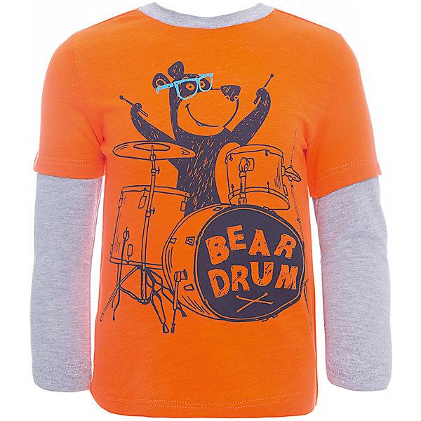 Футболка с длинным рукавом SELA для мальчикаФутболки с длинным рукавом<br>Характеристики товара:<br><br>• цвет: оранжевый/серый;<br>• состав: 100% хлопок;<br>• сезон: демисезон;<br>• особенности: повседневный, с рисунком;<br>• длинный рукав;<br>• страна бренда: Россия;<br>• страна изготовитель: Китай.<br><br>Лонгслив с рисунком для мальчика. Прямой силуэт, круглый ворот. Оранжевый лонсглив изготовлен из 100% хлопка. Контрастная расцветка с ярким принтом.<br><br>Футболку с длинным рукавом Sela (Села) для мальчика можно купить в нашем интернет-магазине.<br>Ширина мм: 190; Глубина мм: 74; Высота мм: 229; Вес г: 236; Цвет: красный; Возраст от месяцев: 18; Возраст до месяцев: 24; Пол: Мужской; Возраст: Детский; Размер: 92,116,110,104,98; SKU: 7009708;