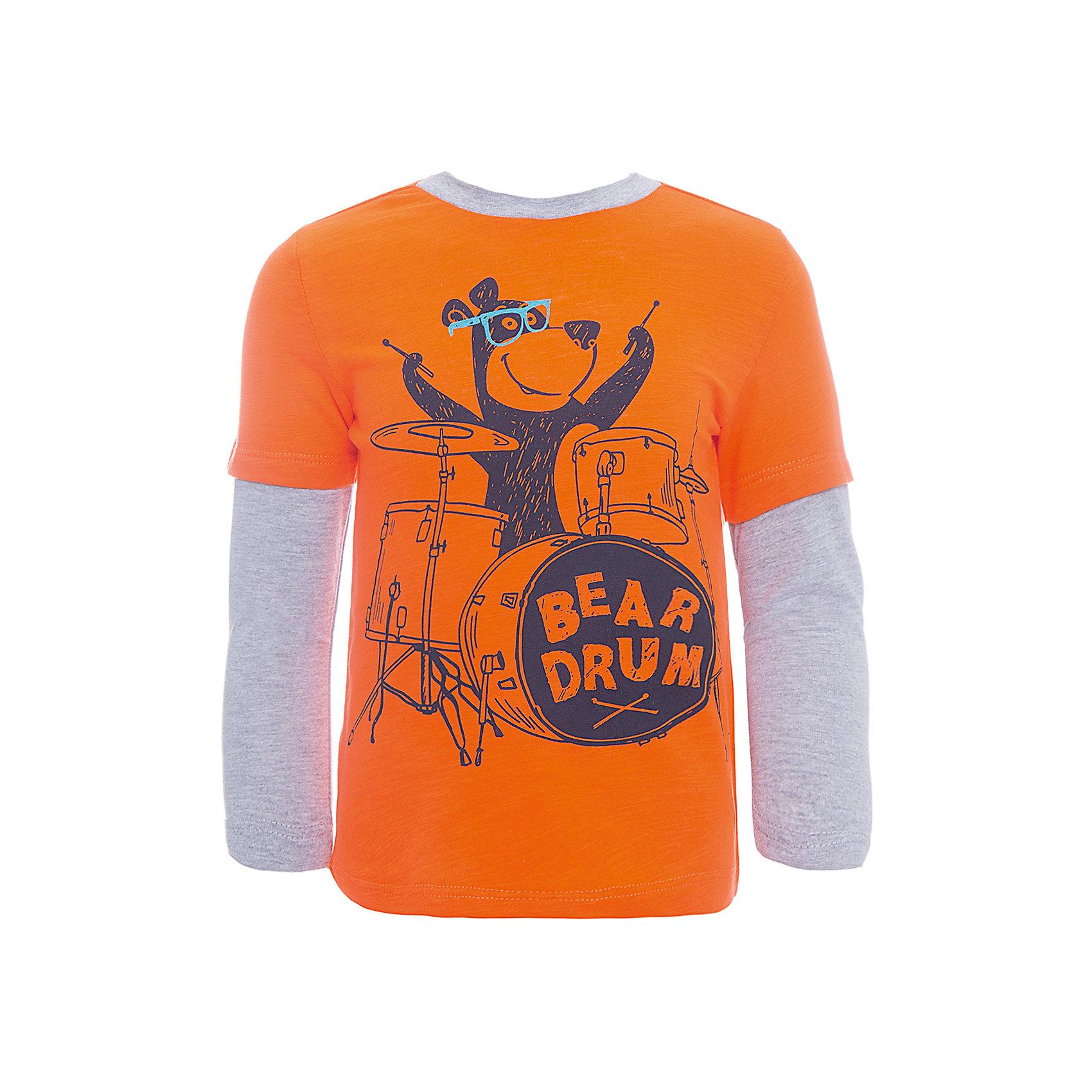 Футболка с длинным рукавом SELA для мальчикаФутболки с длинным рукавом<br>Характеристики товара:<br><br>• цвет: оранжевый/серый;<br>• состав: 100% хлопок;<br>• сезон: демисезон;<br>• особенности: повседневный, с рисунком;<br>• длинный рукав;<br>• страна бренда: Россия;<br>• страна изготовитель: Китай.<br><br>Лонгслив с рисунком для мальчика. Прямой силуэт, круглый ворот. Оранжевый лонсглив изготовлен из 100% хлопка. Контрастная расцветка с ярким принтом.<br><br>Футболку с длинным рукавом Sela (Села) для мальчика можно купить в нашем интернет-магазине.<br><br>Ширина мм: 190<br>Глубина мм: 74<br>Высота мм: 229<br>Вес г: 236<br>Цвет: красный<br>Возраст от месяцев: 60<br>Возраст до месяцев: 72<br>Пол: Мужской<br>Возраст: Детский<br>Размер: 116,92,98,104,110<br>SKU: 7009708