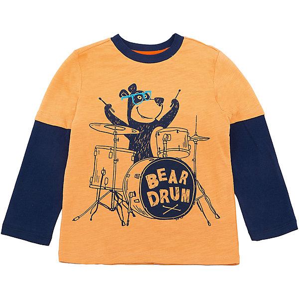 Футболка с длинным рукавом SELA для мальчикаФутболки с длинным рукавом<br>Характеристики товара:<br><br>• цвет: желтый/синий;<br>• состав: 100% хлопок;<br>• сезон: демисезон;<br>• особенности: повседневный, с рисунком;<br>• длинный рукав;<br>• страна бренда: Россия;<br>• страна изготовитель: Китай.<br><br>Лонгслив с рисунком для мальчика. Прямой силуэт, круглый ворот. Желтый лонсглив изготовлен из 100% хлопка. Контрастная расцветка с ярким принтом.<br><br>Футболку с длинным рукавом Sela (Села) для мальчика можно купить в нашем интернет-магазине.<br><br>Ширина мм: 190<br>Глубина мм: 74<br>Высота мм: 229<br>Вес г: 236<br>Цвет: золотой<br>Возраст от месяцев: 18<br>Возраст до месяцев: 24<br>Пол: Мужской<br>Возраст: Детский<br>Размер: 116,110,104,98,92<br>SKU: 7009714