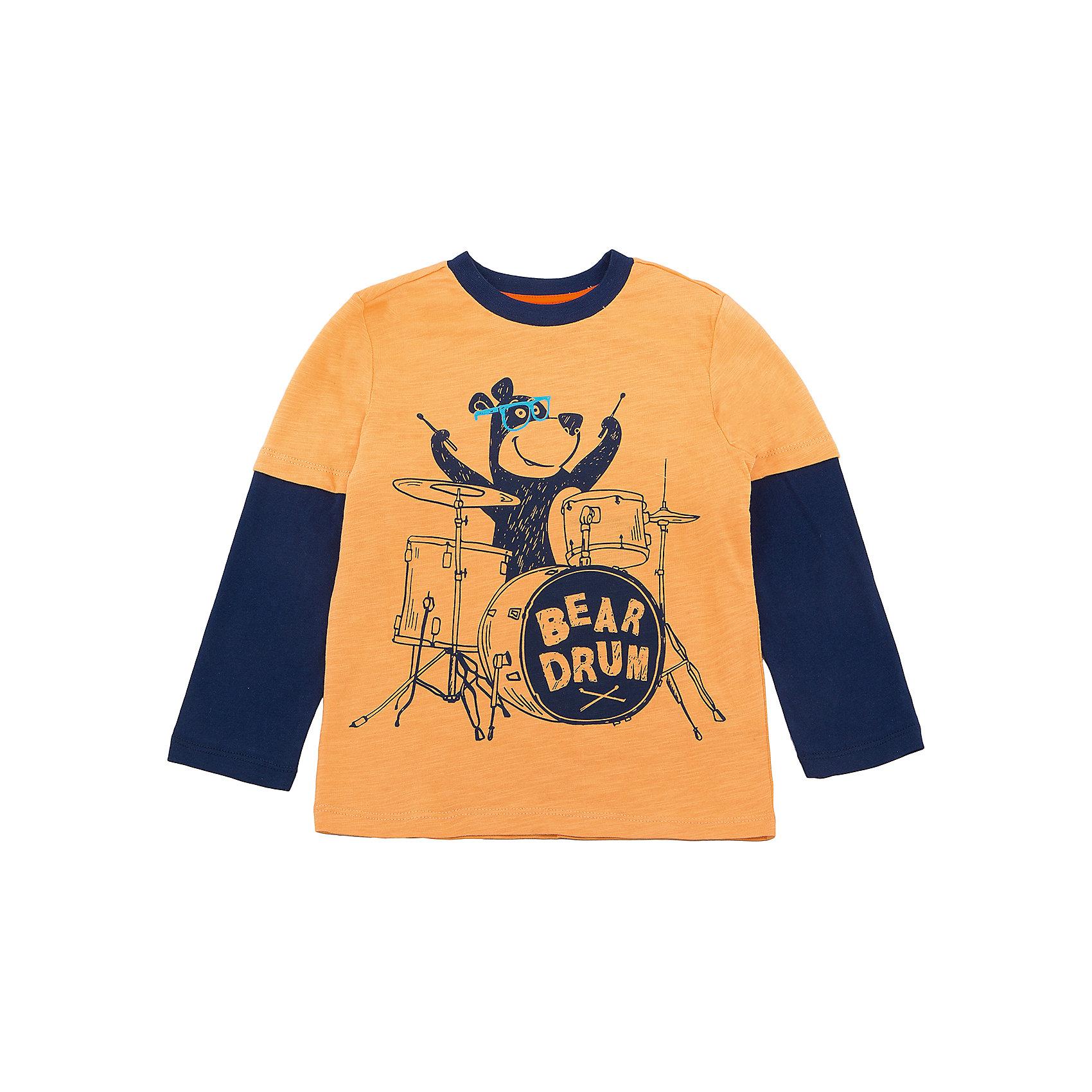 Футболка с длинным рукавом SELA для мальчикаФутболки с длинным рукавом<br>Характеристики товара:<br><br>• цвет: желтый/синий;<br>• состав: 100% хлопок;<br>• сезон: демисезон;<br>• особенности: повседневный, с рисунком;<br>• длинный рукав;<br>• страна бренда: Россия;<br>• страна изготовитель: Китай.<br><br>Лонгслив с рисунком для мальчика. Прямой силуэт, круглый ворот. Желтый лонсглив изготовлен из 100% хлопка. Контрастная расцветка с ярким принтом.<br><br>Футболку с длинным рукавом Sela (Села) для мальчика можно купить в нашем интернет-магазине.<br><br>Ширина мм: 190<br>Глубина мм: 74<br>Высота мм: 229<br>Вес г: 236<br>Цвет: золотой<br>Возраст от месяцев: 60<br>Возраст до месяцев: 72<br>Пол: Мужской<br>Возраст: Детский<br>Размер: 116,92,98,104,110<br>SKU: 7009714