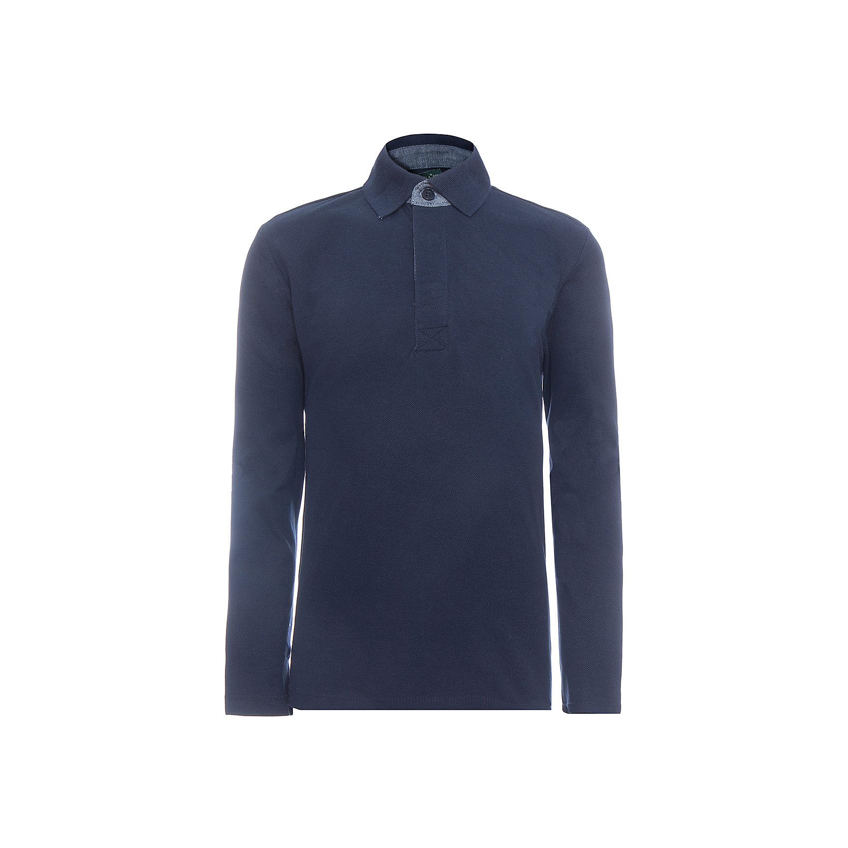 Рубашка-поло SELA для мальчикаБлузки и рубашки<br>Характеристики товара:<br><br>• цвет: синий;<br>• состав: 100% хлопок;<br>• сезон: демисезон;<br>• особенности: повседневная, школьная, однотонная;<br>• прямой силуэт;<br>• длинный рукав;<br>• страна бренда: Россия;<br>• страна изготовитель: Китай.<br><br>Рубашка-поло с длинным рукавом для мальчика. Воротничок застегивается на пуговицы. Темно-синяя рубашка имеет прямой силуэт.<br><br>Рубашку-поло Sela (Села) для мальчика можно купить в нашем интернет-магазине.<br><br>Ширина мм: 174<br>Глубина мм: 10<br>Высота мм: 169<br>Вес г: 157<br>Цвет: синий<br>Возраст от месяцев: 132<br>Возраст до месяцев: 144<br>Пол: Мужской<br>Возраст: Детский<br>Размер: 152,122,128,134,140,146<br>SKU: 7009750