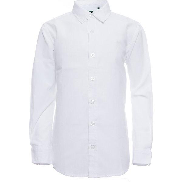 Рубашка SELA для мальчикаБлузки и рубашки<br>Характеристики товара:<br><br>• цвет: белый;<br>• состав: 60% хлопок, 40% полиэстер;<br>• сезон: круглый год;<br>• особенности: повседневная, школьная;<br>• застежка: пуговицы;<br>• манжеты на пуговицах;<br>• с длинным рукавом;<br>• страна бренда: Россия;<br>• страна изготовитель: Китай.<br><br>Школьная рубашка с длинным рукавом для мальчика. Классическая белая рубашка с воротником застегивается на пуговицы. Манжеты застегиваются на две пуговицы.<br><br>Рубашку Sela (Села) для мальчика можно купить в нашем интернет-магазине.<br><br>Ширина мм: 174<br>Глубина мм: 10<br>Высота мм: 169<br>Вес г: 157<br>Цвет: белый<br>Возраст от месяцев: 156<br>Возраст до месяцев: 168<br>Пол: Мужской<br>Возраст: Детский<br>Размер: 164,122,170,158,152,146,140,134,128<br>SKU: 7009771