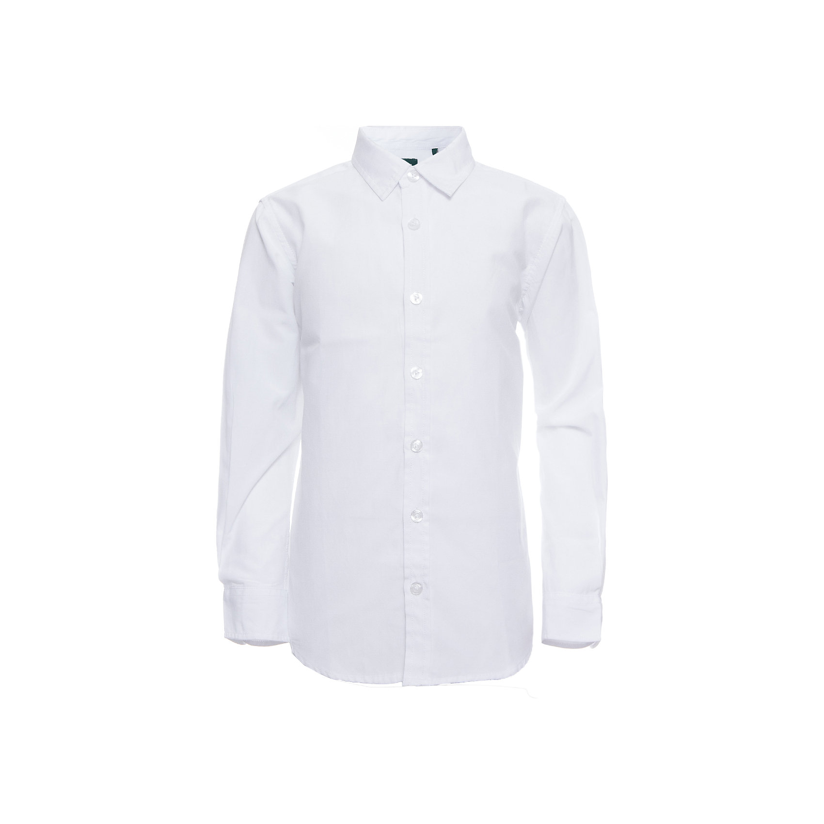 Рубашка SELA для мальчикаБлузки и рубашки<br>Характеристики товара:<br><br>• цвет: белый;<br>• состав: 60% хлопок, 40% полиэстер;<br>• сезон: круглый год;<br>• особенности: повседневная, школьная;<br>• застежка: пуговицы;<br>• манжеты на пуговицах;<br>• с длинным рукавом;<br>• страна бренда: Россия;<br>• страна изготовитель: Китай.<br><br>Школьная рубашка с длинным рукавом для мальчика. Классическая белая рубашка с воротником застегивается на пуговицы. Манжеты застегиваются на две пуговицы.<br><br>Рубашку Sela (Села) для мальчика можно купить в нашем интернет-магазине.<br><br>Ширина мм: 174<br>Глубина мм: 10<br>Высота мм: 169<br>Вес г: 157<br>Цвет: белый<br>Возраст от месяцев: 168<br>Возраст до месяцев: 180<br>Пол: Мужской<br>Возраст: Детский<br>Размер: 170,122,128,134,140,146,152,158,164<br>SKU: 7009771