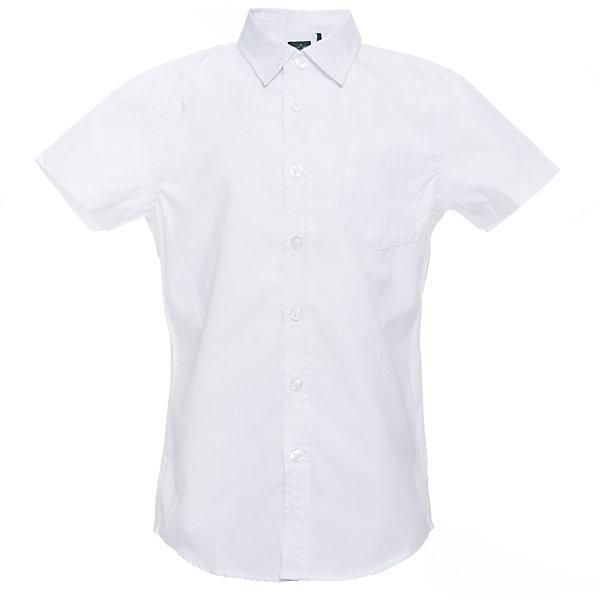 Рубашка SELA для мальчикаБлузки и рубашки<br>Характеристики товара:<br><br>• цвет: белый;<br>• состав: 60% хлопок, 40% полиэстер;<br>• сезон: круглый год;<br>• особенности: повседневная, школьная;<br>• застежка: пуговицы;<br>• с коротким рукавом;<br>• накладной нагрудный карман;<br>• страна бренда: Россия;<br>• страна изготовитель: Китай.<br><br>Школьная рубашка с коротким рукавом для мальчика. Белая рубашка застегивается на пуговицы. Есть нагрудный карман.<br><br>Рубашка Sela (Села) для мальчика можно купить в нашем интернет-магазине.<br><br>Ширина мм: 174<br>Глубина мм: 10<br>Высота мм: 169<br>Вес г: 157<br>Цвет: белый<br>Возраст от месяцев: 120<br>Возраст до месяцев: 132<br>Пол: Мужской<br>Возраст: Детский<br>Размер: 122,146,152,140,134,128<br>SKU: 7009781