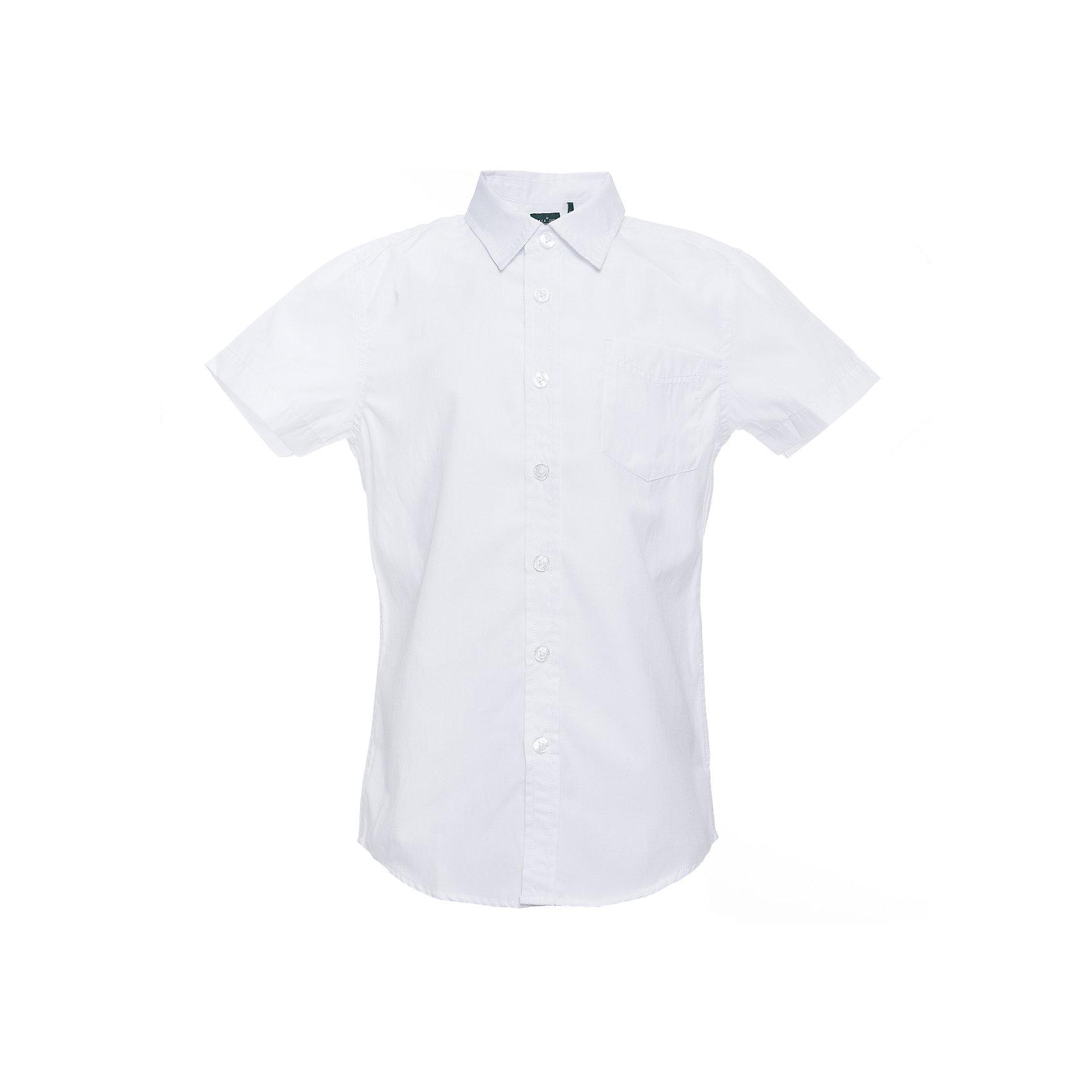Рубашка SELA для мальчикаБлузки и рубашки<br>Характеристики товара:<br><br>• цвет: белый;<br>• состав: 60% хлопок, 40% полиэстер;<br>• сезон: круглый год;<br>• особенности: повседневная, школьная;<br>• застежка: пуговицы;<br>• с коротким рукавом;<br>• накладной нагрудный карман;<br>• страна бренда: Россия;<br>• страна изготовитель: Китай.<br><br>Школьная рубашка с коротким рукавом для мальчика. Белая рубашка застегивается на пуговицы. Есть нагрудный карман.<br><br>Рубашка Sela (Села) для мальчика можно купить в нашем интернет-магазине.<br><br>Ширина мм: 174<br>Глубина мм: 10<br>Высота мм: 169<br>Вес г: 157<br>Цвет: белый<br>Возраст от месяцев: 120<br>Возраст до месяцев: 132<br>Пол: Мужской<br>Возраст: Детский<br>Размер: 146,152,122,128,134,140<br>SKU: 7009781