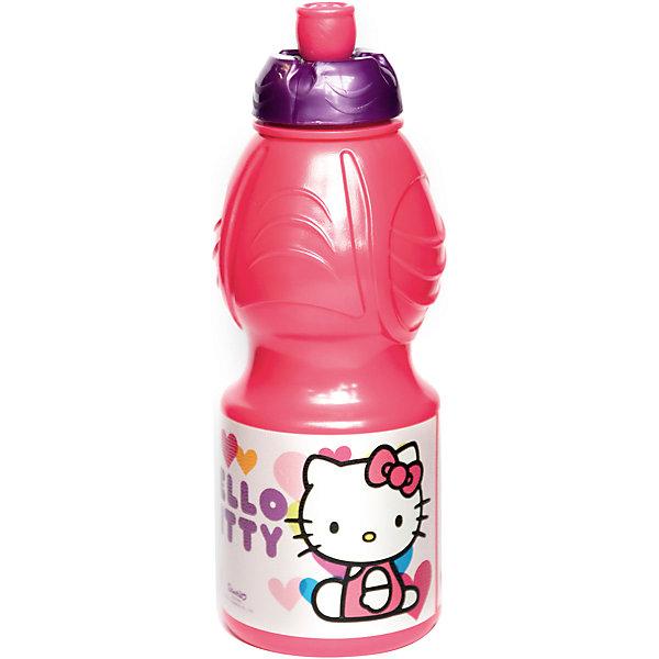 Бутылка пластиковая 400 мл., Hello KittyБутылки для воды и бутербродницы<br>Характеристики:<br><br>• возраст: от 3 лет;<br>• цвет: разноцветная, с иллюстрацией;<br>• объем: 400 мл.;<br>• дополнительные опции: с поильником;<br>• материал: пищевой пластик;<br>• высота бутылки: 18 см; <br>• ширина бутылки: 6,5 см;<br>• вес: 50 г.<br>   <br>Красочная спортивная бутылочка для детей изготовлена из пищевого пластика. Горлышко снабжено специальным выдвижным поильником. Бутылка имеет суженую к середине форму, удобную для детской руки.<br><br>Бутылка легко помещается в спортивную сумку, рюкзак или велосипедный держатель. Можно использовать с любыми видами пищевых жидкостей.<br>На бутылочке изображены любимые детские персонажи. <br><br>Бутылку пластиковую 400 мл., Hello Kitty, Stor можно приобрести в нашем интернет-магазине.<br><br>Ширина мм: 65<br>Глубина мм: 65<br>Высота мм: 180<br>Вес г: 52<br>Возраст от месяцев: 36<br>Возраст до месяцев: 2147483647<br>Пол: Унисекс<br>Возраст: Детский<br>SKU: 7010316