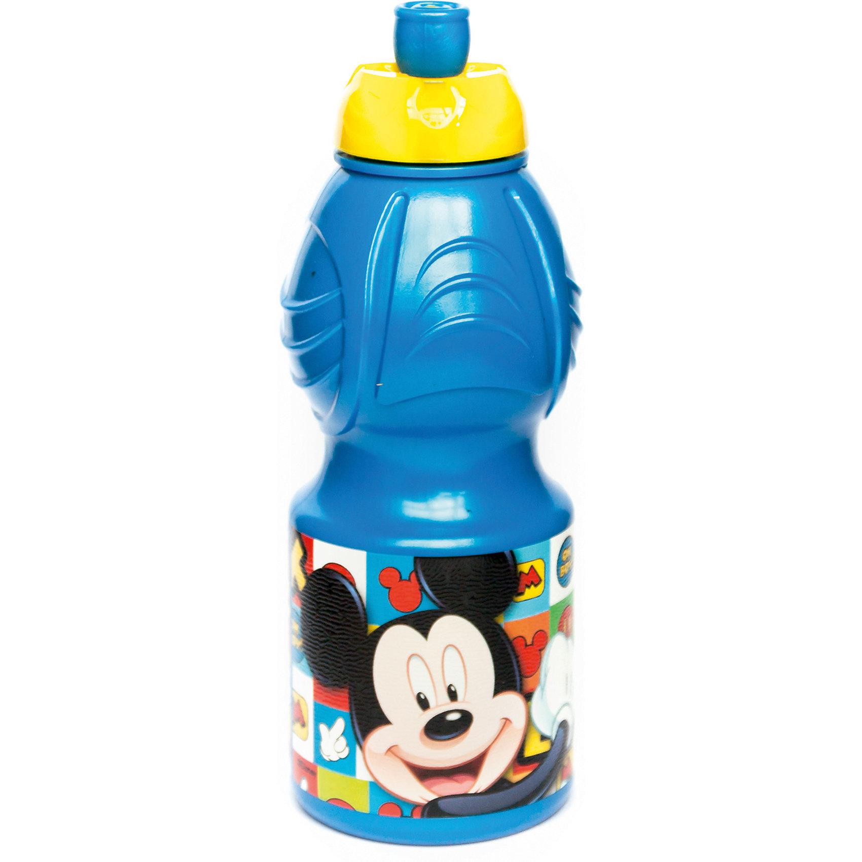 Бутылка пластиковая 400 мл., Микки МаусБутылки для воды и бутербродницы<br>Характеристики:<br><br>• возраст: от 3 лет;<br>• цвет: разноцветная, с иллюстрацией;<br>• объем: 400 мл.;<br>• дополнительные опции: с поильником;<br>• материал: пищевой пластик;<br>• высота бутылки: 18 см; <br>• ширина бутылки: 6,5 см;<br>• вес: 50 г.<br>   <br>Красочная спортивная бутылочка для детей изготовлена из пищевого пластика. Горлышко снабжено специальным выдвижным поильником. Бутылка имеет суженую к середине форму, удобную для детской руки.<br><br>Бутылка легко помещается в спортивную сумку, рюкзак или велосипедный держатель. Можно использовать с любыми видами пищевых жидкостей.<br>На бутылочке изображены любимые детские персонажи. <br><br>Бутылку пластиковую 400 мл., Микки Маус, Stor можно приобрести в нашем интернет-магазине.<br><br>Ширина мм: 65<br>Глубина мм: 65<br>Высота мм: 180<br>Вес г: 52<br>Возраст от месяцев: 36<br>Возраст до месяцев: 2147483647<br>Пол: Унисекс<br>Возраст: Детский<br>SKU: 7010318