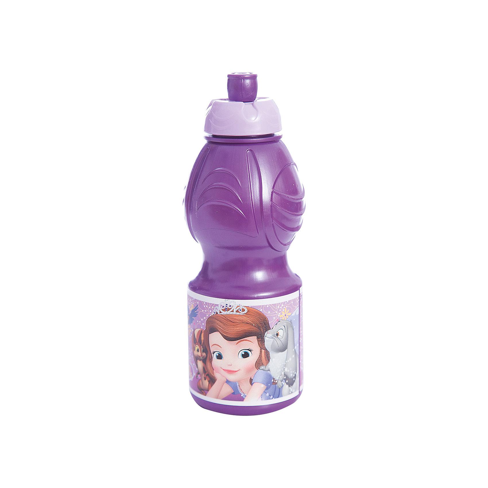 Бутылка пластиковая 400 мл., Принцесса СофияБутылки для воды и бутербродницы<br>Спортивная бутылочка для холодных жидкостей из пищевого пластика с изображением любимого персонажа, объем 400 мл.<br><br>Ширина мм: 65<br>Глубина мм: 65<br>Высота мм: 180<br>Вес г: 52<br>Возраст от месяцев: 36<br>Возраст до месяцев: 2147483647<br>Пол: Унисекс<br>Возраст: Детский<br>SKU: 7010321