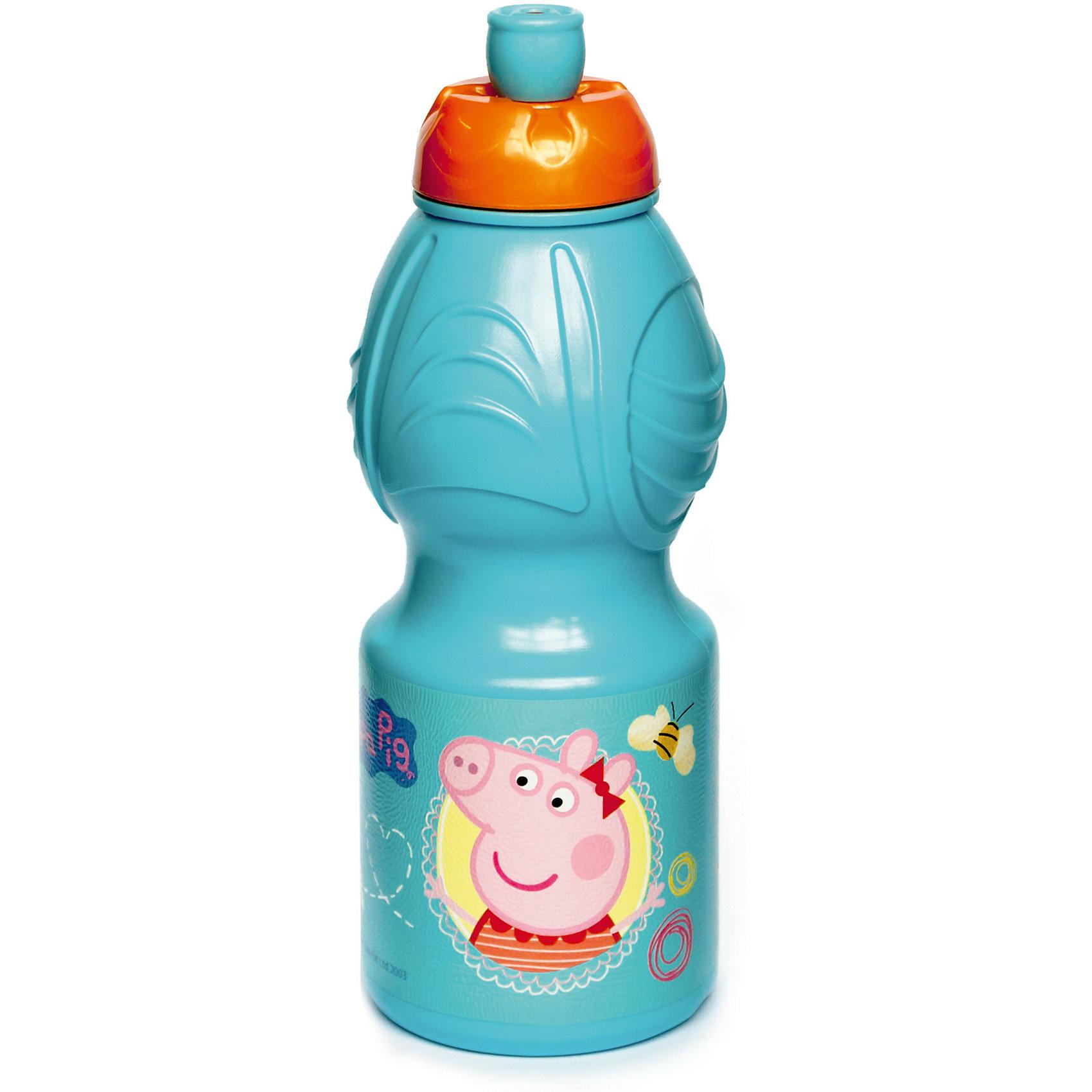 Бутылка пластиковая 400 мл., Свинка ПеппаБутылки для воды и бутербродницы<br>Характеристики:<br><br>• возраст: от 3 лет;<br>• цвет: разноцветная, с иллюстрацией;<br>• объем: 400 мл.;<br>• дополнительные опции: с поильником;<br>• материал: пищевой пластик;<br>• высота бутылки: 18 см; <br>• ширина бутылки: 6,5 см;<br>• вес: 50 г.<br>   <br>Красочная спортивная бутылочка для детей изготовлена из пищевого пластика. Горлышко снабжено специальным выдвижным поильником. Бутылка имеет суженую к середине форму, удобную для детской руки.<br><br>Бутылка легко помещается в спортивную сумку, рюкзак или велосипедный держатель. Можно использовать с любыми видами пищевых жидкостей.<br><br>На бутылочке изображены любимые детские персонажи. <br><br>Бутылку пластиковую 400 мл.,Свинка Пеппа, Stor можно приобрести в нашем интернет-магазине.<br><br>Ширина мм: 65<br>Глубина мм: 65<br>Высота мм: 180<br>Вес г: 52<br>Возраст от месяцев: 36<br>Возраст до месяцев: 2147483647<br>Пол: Унисекс<br>Возраст: Детский<br>SKU: 7010323