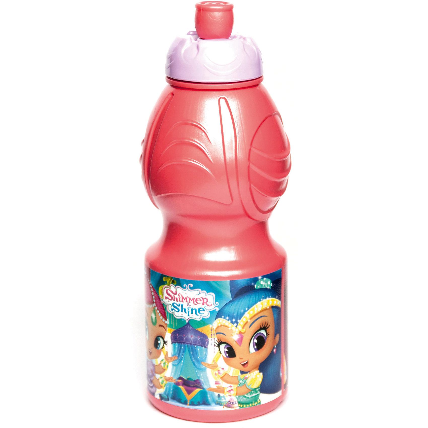 Бутылка пластиковая 400 мл., Shimmer &amp; ShineБутылки для воды и бутербродницы<br>Характеристики:<br><br>• возраст: от 3 лет;<br>• цвет: разноцветная, с иллюстрацией;<br>• объем: 400 мл.;<br>• дополнительные опции: с поильником;<br>• материал: пищевой пластик;<br>• высота бутылки: 18 см; <br>• ширина бутылки: 6,5 см;<br>• вес: 50 г.<br>   <br>Красочная спортивная бутылочка для детей изготовлена из пищевого пластика. Горлышко снабжено специальным выдвижным поильником. Бутылка имеет суженую к середине форму, удобную для детской руки.<br><br>Бутылка легко помещается в спортивную сумку, рюкзак или велосипедный держатель. Можно использовать с любыми видами пищевых жидкостей.<br><br>На бутылочке изображены любимые детские персонажи. <br><br>Бутылку пластиковую 400 мл., Shimmer &amp; Shine, Stor можно приобрести в нашем интернет-магазине.<br><br>Ширина мм: 65<br>Глубина мм: 65<br>Высота мм: 180<br>Вес г: 52<br>Возраст от месяцев: 36<br>Возраст до месяцев: 2147483647<br>Пол: Унисекс<br>Возраст: Детский<br>SKU: 7010329