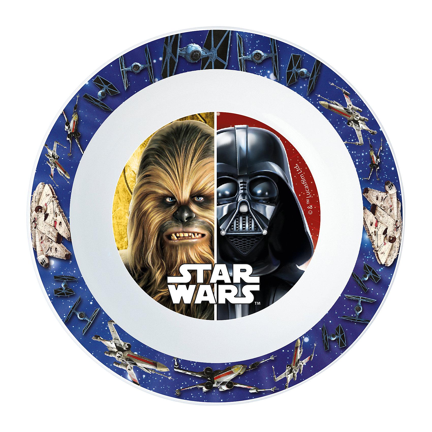 Миска пластиковая для СВЧ, Звёздные войныЗвездные войны Посуда<br>Характеристики:<br><br>• возраст: от 3 лет;<br>• материал: пищевой пластик;<br>• диаметр: 16,5 см;<br>• вес: 43 г.<br>   <br>Красочная детская миска с изображением любимых персонажей предназначена для детей от 3 лет. Яркую посуду можно использовать дома, брать с собой в дорогу или на пикник. <br><br>Глубокая миска изготовлена из высококачественного пищевого пластика. Подходит для обучения детей самостоятельному приему пищи, она не бьется и безопасна для малышей.<br><br>Миску можно использовать для горячих блюд и СВЧ. <br><br>Миска пластиковая для СВЧ, Звёздные войны, ND Play можно приобрести в нашем интернет-магазине.<br><br>Ширина мм: 165<br>Глубина мм: 37<br>Высота мм: 165<br>Вес г: 43<br>Возраст от месяцев: 36<br>Возраст до месяцев: 2147483647<br>Пол: Унисекс<br>Возраст: Детский<br>SKU: 7010336
