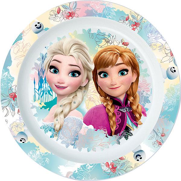 Тарелка пластиковая для СВЧ, Холодное сердцеДетская посуда<br>Характеристики:<br><br>• возраст: от 3 лет;<br>• материал: пищевой пластик;<br>• диаметр: 22 см;<br>• вес: 55 г.<br>   <br>Красочная детская тарелка с изображением любимых персонажей предназначена для детей от 3 лет. Яркую посуду можно использовать дома, брать с собой в дорогу или на пикник. <br><br>Большая тарелка изготовлена из высококачественного пищевого пластика. Подходит для  обучения детей самостоятельному приему пищи, она не бьется и безопасна для малышей.<br><br>Тарелку можно использовать для горячих блюд и СВЧ. <br><br>Тарелка пластиковая для СВЧ 22см., Холодное сердце, ND Play можно приобрести в нашем интернет-магазине.<br><br>Ширина мм: 220<br>Глубина мм: 15<br>Высота мм: 220<br>Вес г: 55<br>Возраст от месяцев: 36<br>Возраст до месяцев: 2147483647<br>Пол: Унисекс<br>Возраст: Детский<br>SKU: 7010357