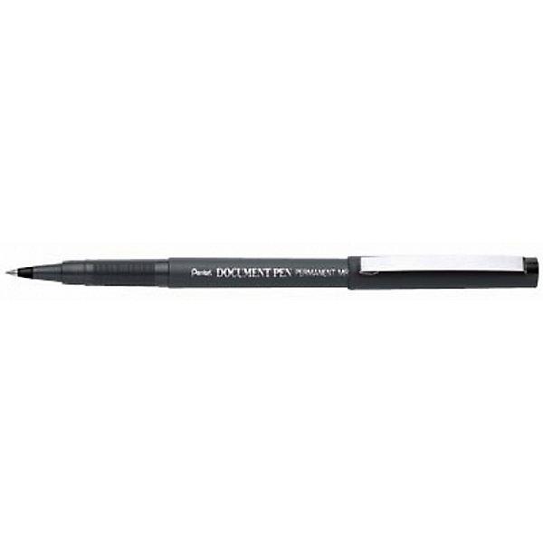 Роллер DOCUMENT PEN одноразазовая черные чернила 0,5 мм в блистере PentelПисьменные принадлежности<br>Характеристики:<br><br>• возраст: от 6 лет<br>• диаметр шарика: 0,5 мм.<br>• длина ручки: 15 см.<br>• цвет чернил: черный<br>• ручка одноразовая, замена стержня не предусмотрена<br>• материал корпуса: пластик<br>• упаковка: блистер<br><br>Известная ручка-роллер, изобретенная компанией Pentel в 1986 г - это надежный деловой инструмент, завоевавший доверие своим неизменным качеством.<br><br>Лаконичный матовый корпус серого цвета и стальной полированный клип на колпачке создают образ элегантного пишущего инструмента. Нарочитую простоту дизайна разбавляет серебристая надпись на корпусе роллера «Pentel Document Pen Permanent MR205 JAPAN».<br><br>Перманентные чернила устойчивы к воздействию воды, света, перепадам температур за счет своего уникального состава, гарантируют долголетие надписи. Шарик выполнен из карбида вольфрама. <br><br>Ручка-роллер «Document Pen» гарантирует мягкое письмо и быстрое высыхание чернил.<br><br>Роллер DOCUMENT PEN одноразовый черные чернила 0,5 мм в блистере Pentel (Пентел) можно купить в нашем интернет-магазине.<br>Ширина мм: 10; Глубина мм: 10; Высота мм: 150; Вес г: 7; Возраст от месяцев: 72; Возраст до месяцев: 2147483647; Пол: Унисекс; Возраст: Детский; SKU: 7010436;