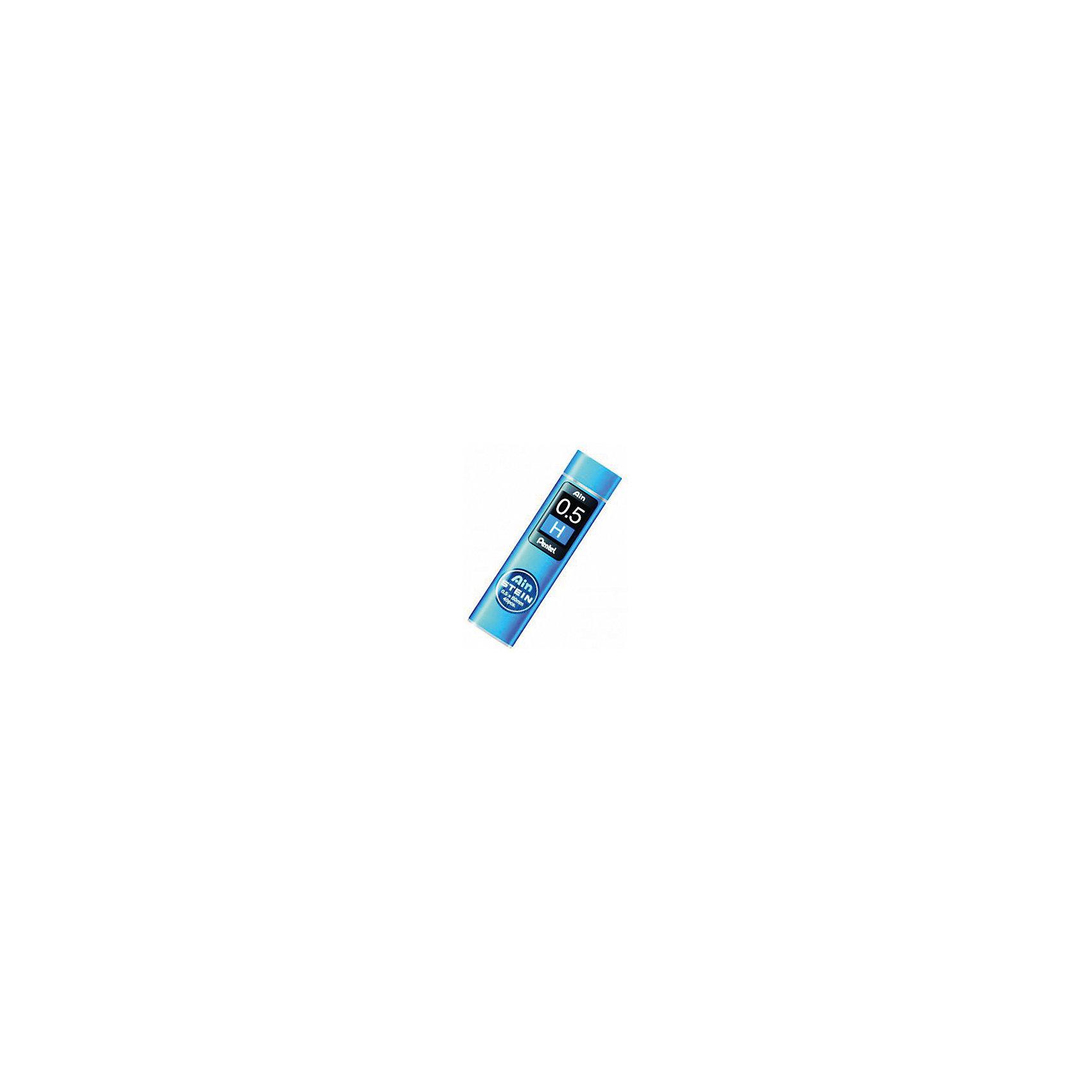 Грифели для карандашей автоматических AIN STEIN 40 шт 0,5 мм PentelПисьменные принадлежности<br>Характеристики:<br><br>• возраст: от 6 лет<br>• в комплекте: 40 грифелей<br>• толщина грифеля: 0,5 мм.<br>• длина грифеля: 6 см.<br>• упаковка: пластиковый пенал с дозатором<br>• не содержат вредных веществ<br><br>В наборе 40 особо прочных грифелей, которые подходят для автоматических карандашей «Ain Snein». При производстве грифелей используются специальные синтетические добавки, которые делают их прочными и одновременно гибкими.<br><br>Грифели для карандашей автоматических AIN STEIN 40 шт 0,5 мм Pentel (Пентел) можно купить в нашем интернет-магазине.<br><br>Ширина мм: 50<br>Глубина мм: 10<br>Высота мм: 210<br>Вес г: 3<br>Возраст от месяцев: 72<br>Возраст до месяцев: 2147483647<br>Пол: Унисекс<br>Возраст: Детский<br>SKU: 7010442