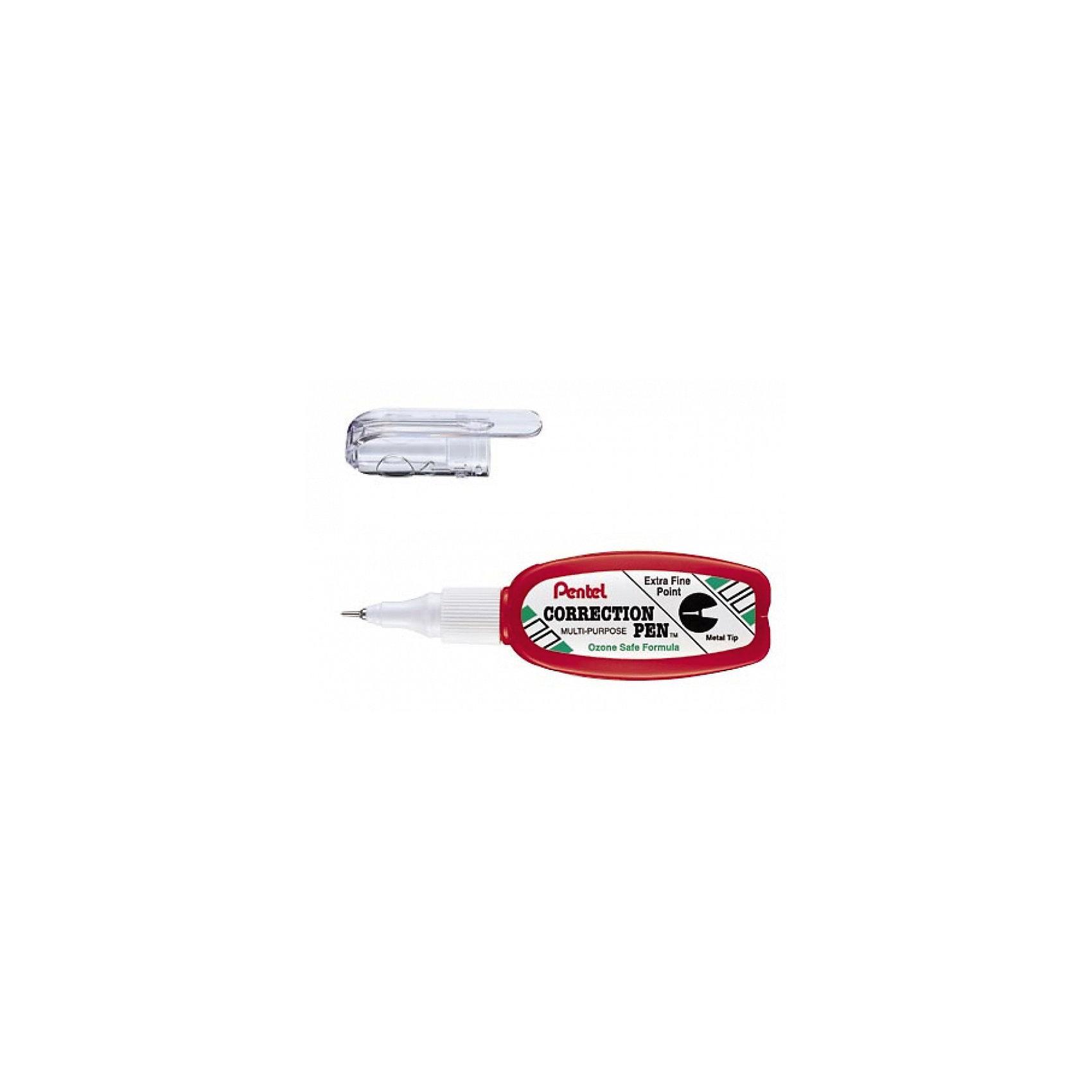 Корректор EXTRA FINE POINT 4.2 мл, 0,5 мм в блистере  PentelШкольные аксессуары<br>Характеристики:<br><br>• возраст: от 6 лет<br>• площадь коррекции: 378 кв. см.<br>• толщина линии: 0,5 мм.<br>• объем: 4,2 мл.<br>• металлический наконечник<br>• материал корпуса: пластик<br>• упаковка: блистер<br><br>Специализированный, многофункциональный корректор «Extra Fine Point» поможет вам аккуратно исправить ошибки и опечатки, благодаря очень тонкому металлическому наконечнику. Жидкость покрывает даже минимальную поверхность, быстро сохнет, мягко ложится на бумагу, обеспечивая гладкое ровное покрытие.<br><br>Корректор небольшого размера поместится в любой карман или сумку. Функциональный клип, расположенный на насадке предотвращает высыхание жидкости и позволяет безопасно перемещать корректор с места на место.<br><br>Корректор водоустойчив, без запаха, не токсичен. Удобный пластиковый корпус позволяет использовать корректор до последней капли жидкости.<br><br>Корректор EXTRA FINE POINT 4.2 мл, 0,5 мм в блистере Pentel (Пентел) можно купить в нашем интернет-магазине.<br><br>Ширина мм: 50<br>Глубина мм: 150<br>Высота мм: 210<br>Вес г: 65<br>Возраст от месяцев: 72<br>Возраст до месяцев: 2147483647<br>Пол: Унисекс<br>Возраст: Детский<br>SKU: 7010444