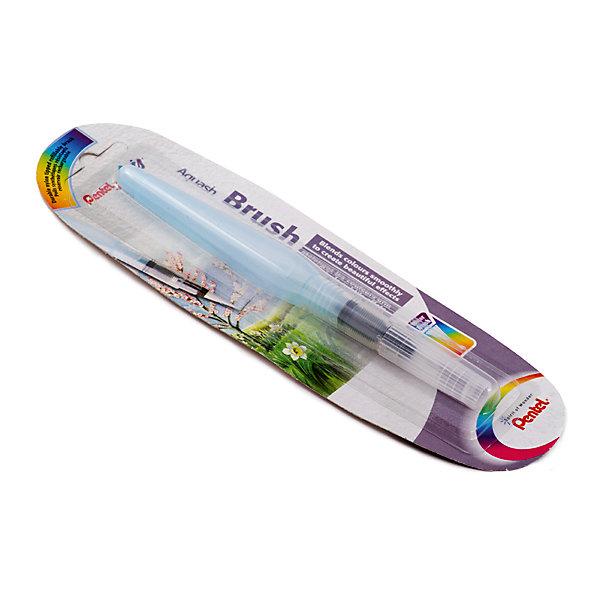 Кисть с резервуаром Aguash Brush в блистере большая, 10мл PentelКраски и кисточки<br>Характеристики:<br><br>• возраст: от 6 лет<br>• длина наконечника: 18 мм.<br>• диаметр кисти: 6 мм.<br>• объем резервуара: 10 мл.<br>• длина изделия: 15,5 см.<br>• материал наконечника-кисти: нейлон<br>• материал корпуса: мягкий пластик<br>• упаковка: блистер<br><br>Кисть с накопителем для воды «Aquash Brush» (большая) - это современное изобретение из Японии, которое очень быстро получило свою популярность среди товаров для творчества во всем мире. У этой кисти огромный потенциал, с ней вы забудете про баночки с водой.<br><br>Кисть с резервуаром очень проста в использовании и незаменима при работе с акварелью, карандашами и пастелью. Вам достаточно создать эскиз, а затем, используя кисть, растушевать края. Либо использовать саму кисть для нанесения акварельных красок.<br><br>Кисть «Aquash Brush» состоит из наконечника-кисти, изготовленного из нейлона, и резервуара для воды. Вода попадает в наконечник с помощью легкого сжатия корпуса. Наконечник-кисть очень легко чистится, достаточно промыть его под водой и высушить бумажным полотенцем. Прозрачный корпус позволяет контролировать количество воды в резервуаре.<br><br>Кисть «Aquash Brush» снабжена колпачком, который предотвращает протекание при транспортировке, и защищает щетину кисти от деформации.<br><br>Кисть с резервуаром Aguash Brush в блистере большую, 10мл Pentel (Пентел) можно купить в нашем интернет-магазине.<br><br>Ширина мм: 20<br>Глубина мм: 20<br>Высота мм: 155<br>Вес г: 15<br>Возраст от месяцев: 72<br>Возраст до месяцев: 2147483647<br>Пол: Унисекс<br>Возраст: Детский<br>SKU: 7010460