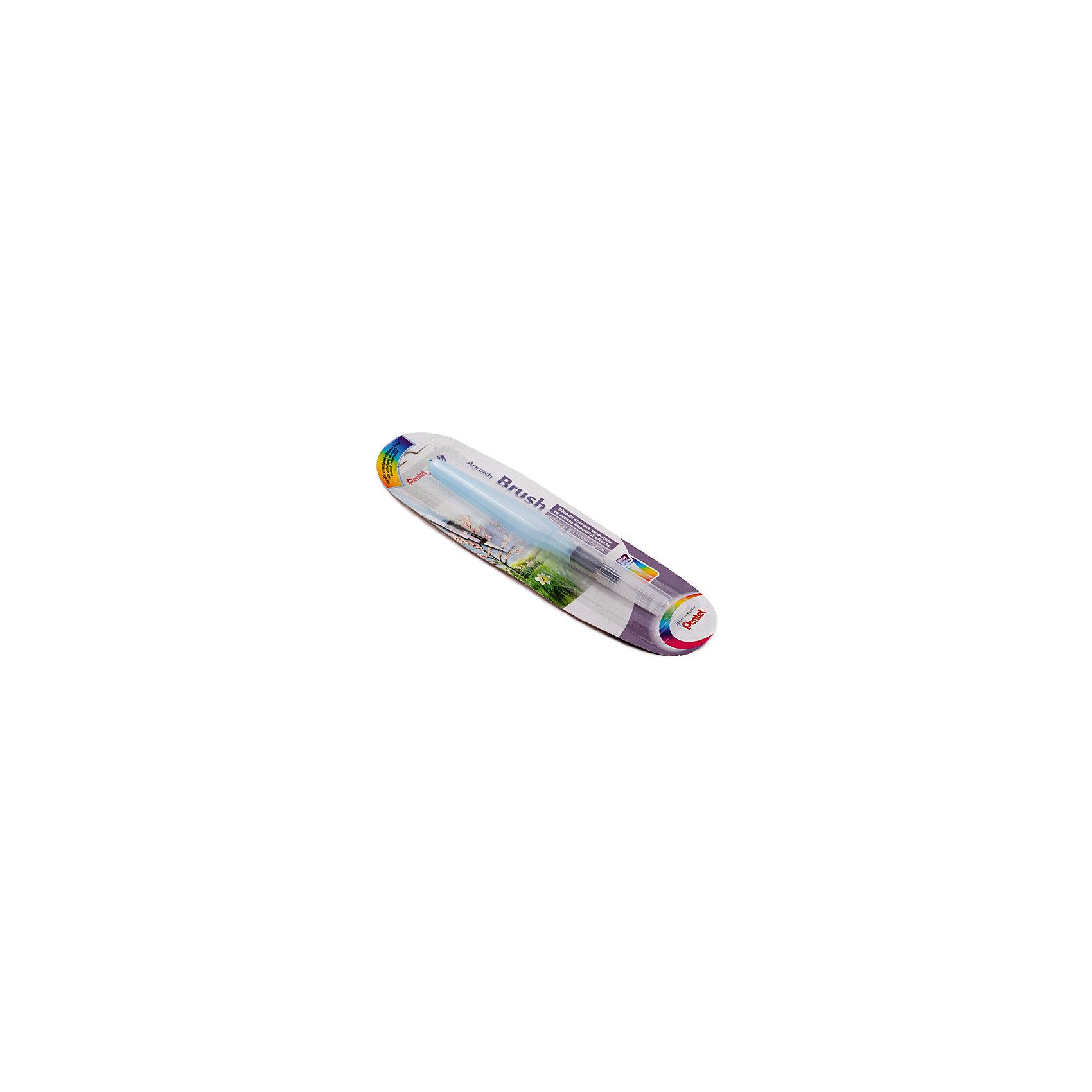 Кисть с резервуаром Aguash Brush в блистере большая, 10мл PentelРисование и лепка<br>Характеристики:<br><br>• возраст: от 6 лет<br>• длина наконечника: 18 мм.<br>• диаметр кисти: 6 мм.<br>• объем резервуара: 10 мл.<br>• длина изделия: 15,5 см.<br>• материал наконечника-кисти: нейлон<br>• материал корпуса: мягкий пластик<br>• упаковка: блистер<br><br>Кисть с накопителем для воды «Aquash Brush» (большая) - это современное изобретение из Японии, которое очень быстро получило свою популярность среди товаров для творчества во всем мире. У этой кисти огромный потенциал, с ней вы забудете про баночки с водой.<br><br>Кисть с резервуаром очень проста в использовании и незаменима при работе с акварелью, карандашами и пастелью. Вам достаточно создать эскиз, а затем, используя кисть, растушевать края. Либо использовать саму кисть для нанесения акварельных красок.<br><br>Кисть «Aquash Brush» состоит из наконечника-кисти, изготовленного из нейлона, и резервуара для воды. Вода попадает в наконечник с помощью легкого сжатия корпуса. Наконечник-кисть очень легко чистится, достаточно промыть его под водой и высушить бумажным полотенцем. Прозрачный корпус позволяет контролировать количество воды в резервуаре.<br><br>Кисть «Aquash Brush» снабжена колпачком, который предотвращает протекание при транспортировке, и защищает щетину кисти от деформации.<br><br>Кисть с резервуаром Aguash Brush в блистере большую, 10мл Pentel (Пентел) можно купить в нашем интернет-магазине.<br><br>Ширина мм: 20<br>Глубина мм: 20<br>Высота мм: 155<br>Вес г: 15<br>Возраст от месяцев: 72<br>Возраст до месяцев: 2147483647<br>Пол: Унисекс<br>Возраст: Детский<br>SKU: 7010460
