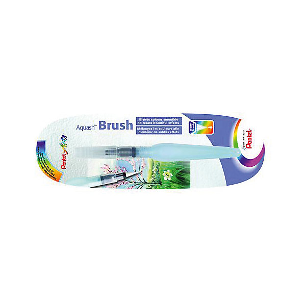Кисть с резервуаром Aguash Brush в блистере тонкая, 10мл PentelКраски и кисточки<br>Характеристики:<br><br>• возраст: от 6 лет<br>• длина наконечника: 11,5 мм.<br>• диаметр кисти: 2,5 мм.<br>• объем резервуара: 10 мл.<br>• длина изделия: 15,5 см.<br>• материал наконечника-кисти: нейлон<br>• материал корпуса: мягкий пластик<br>• упаковка: блистер<br><br>Кисть с накопителем для воды «Aquash Brush» (тонкая) - это современное изобретение из Японии, которое очень быстро получило свою популярность среди товаров для творчества во всем мире. У этой кисти огромный потенциал, с ней вы забудете про баночки с водой.<br><br>Кисть с резервуаром очень проста в использовании и незаменима при работе с акварелью, карандашами и пастелью. Вам достаточно создать эскиз, а затем, используя кисть, растушевать края. Либо использовать саму кисть для нанесения акварельных красок.<br><br>Кисть «Aquash Brush» состоит из наконечника-кисти, изготовленного из нейлона, и резервуара для воды. Вода попадает в наконечник с помощью легкого сжатия корпуса. Наконечник-кисть очень легко чистится, достаточно промыть его под водой и высушить бумажным полотенцем. Прозрачный корпус позволяет контролировать количество воды в резервуаре.<br><br>Кисть «Aquash Brush» снабжена колпачком, который предотвращает протекание при транспортировке, и защищает щетину кисти от деформации.<br><br>Кисть с резервуаром Aguash Brush в блистере тонкую, 10мл Pentel (Пентел) можно купить в нашем интернет-магазине.<br><br>Ширина мм: 20<br>Глубина мм: 20<br>Высота мм: 155<br>Вес г: 15<br>Возраст от месяцев: 72<br>Возраст до месяцев: 2147483647<br>Пол: Унисекс<br>Возраст: Детский<br>SKU: 7010461