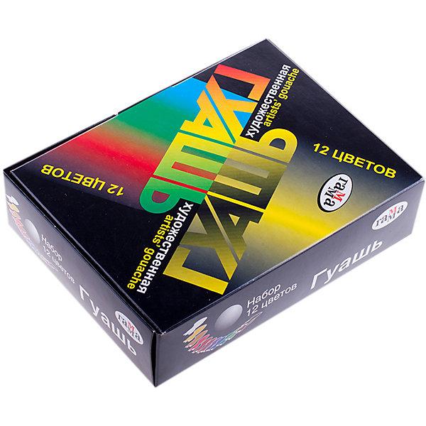 Гуашь ХУДОЖЕСТВЕННАЯ 12 цветов 20мл ГаммаРисование и лепка<br>Характеристики:<br><br>• возраст: от 5 лет<br>• в наборе: 12 баночек с разноцветной гуашью по 20 мл.<br>• упаковка: картонная коробка<br>• размер упаковки: 16х12х4,5 см.<br><br>Гуашь «Художественная» Гамма предназначена для детского творчества, выполнения художественно-декоративных, оформительских работ.<br><br>Гуашь обладает хорошей кроющей способностью, насыщенностью и чистотой цвета, прекрасно смешивается между собой, создавая новые чистые оттенки.<br><br>Гуашь изготовлена на основе натуральных компонентов и высококачественных пигментов. Пластиковые баночки с герметично завинчивающейся крышкой легко открываются и закрываются.<br><br>Гуашь ХУДОЖЕСТВЕННАЯ 12 цветов 20мл Гамма можно купить в нашем интернет-магазине.<br>Ширина мм: 160; Глубина мм: 120; Высота мм: 45; Вес г: 485; Возраст от месяцев: 60; Возраст до месяцев: 2147483647; Пол: Унисекс; Возраст: Детский; SKU: 7010468;