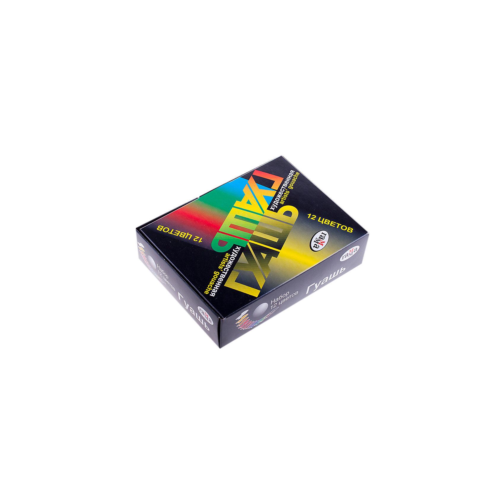 Гуашь ХУДОЖЕСТВЕННАЯ 12 цветов 20мл ГаммаРисование и лепка<br>Характеристики:<br><br>• возраст: от 5 лет<br>• в наборе: 12 баночек с разноцветной гуашью по 20 мл.<br>• упаковка: картонная коробка<br>• размер упаковки: 16х12х4,5 см.<br><br>Гуашь «Художественная» Гамма предназначена для детского творчества, выполнения художественно-декоративных, оформительских работ.<br><br>Гуашь обладает хорошей кроющей способностью, насыщенностью и чистотой цвета, прекрасно смешивается между собой, создавая новые чистые оттенки.<br><br>Гуашь изготовлена на основе натуральных компонентов и высококачественных пигментов. Пластиковые баночки с герметично завинчивающейся крышкой легко открываются и закрываются.<br><br>Гуашь ХУДОЖЕСТВЕННАЯ 12 цветов 20мл Гамма можно купить в нашем интернет-магазине.<br><br>Ширина мм: 160<br>Глубина мм: 120<br>Высота мм: 45<br>Вес г: 485<br>Возраст от месяцев: 60<br>Возраст до месяцев: 2147483647<br>Пол: Унисекс<br>Возраст: Детский<br>SKU: 7010468