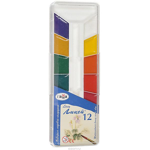 Акварель медовая ЛИЦЕЙ, 12 цветов ГаммаРисование и лепка<br>Характеристики:<br><br>• возраст: от 3 лет<br>• в наборе: краски акварельные медовые полусухие без кисточки<br>• количество цветов: 12<br>• упаковка: пластмассовый пенал с прозрачной крышкой<br>• размер упаковки: 21,5х7,3х1,5 см.<br>• вес: 136 гр.<br><br>Акварельные медовые краски «Лицей» идеально подойдут для детского и художественного изобразительного искусства. Яркие, насыщенные цвета красок отлично смешиваются между собой.<br><br>Краски безопасны для детей, не токсичны, быстро высыхают и не портятся со временем.<br><br>Акварель медовую ЛИЦЕЙ, 12 цветов Гамма можно купить в нашем интернет-магазине.<br>Ширина мм: 210; Глубина мм: 80; Высота мм: 20; Вес г: 140; Возраст от месяцев: 36; Возраст до месяцев: 2147483647; Пол: Унисекс; Возраст: Детский; SKU: 7010469;