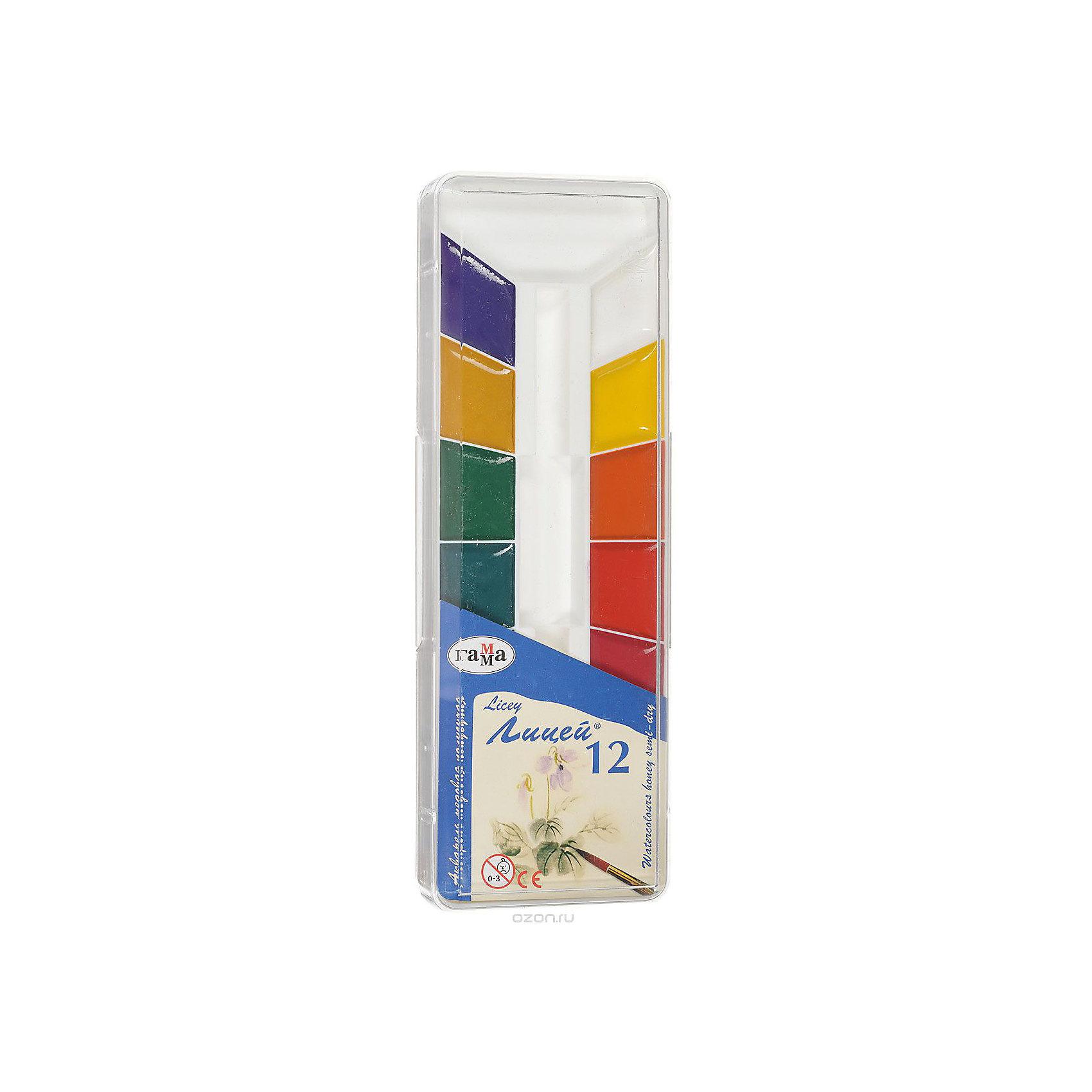 Акварель медовая ЛИЦЕЙ, 12 цветов ГаммаРисование и лепка<br>Характеристики:<br><br>• возраст: от 3 лет<br>• в наборе: краски акварельные медовые полусухие без кисточки<br>• количество цветов: 12<br>• упаковка: пластмассовый пенал с прозрачной крышкой<br>• размер упаковки: 21,5х7,3х1,5 см.<br>• вес: 136 гр.<br><br>Акварельные медовые краски «Лицей» идеально подойдут для детского и художественного изобразительного искусства. Яркие, насыщенные цвета красок отлично смешиваются между собой.<br><br>Краски безопасны для детей, не токсичны, быстро высыхают и не портятся со временем.<br><br>Акварель медовую ЛИЦЕЙ, 12 цветов Гамма можно купить в нашем интернет-магазине.<br><br>Ширина мм: 210<br>Глубина мм: 80<br>Высота мм: 20<br>Вес г: 140<br>Возраст от месяцев: 36<br>Возраст до месяцев: 2147483647<br>Пол: Унисекс<br>Возраст: Детский<br>SKU: 7010469