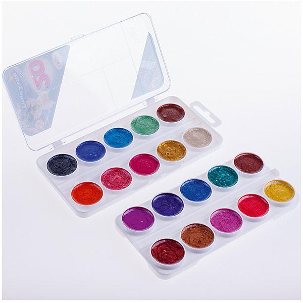 Акварель медовая СТРАНА ЭЛЬФОВ 20 цветов ГаммаРисование и лепка<br>Характеристики:<br><br>• возраст: от 3 лет<br>• в наборе: краски акварельные медовые перламутровые без кисточки<br>• количество цветов: 20<br>• упаковка: пластмассовый пенал с прозрачной крышкой<br>• размер упаковки: 17х9х2 см.<br>• вес: 115 гр.<br><br>Акварельные медовые перламутровые краски «Страна Эльфов» идеально подойдут для детского и художественного изобразительного искусства. Яркие, насыщенные цвета красок отлично смешиваются между собой.<br><br>Краски могут использоваться как самостоятельно, так и в дополнение к основным цветам, создавая на работе волшебные эффекты. После высыхания рисунок будет переливаться на свету.<br><br>Краски безопасны для детей, не токсичны, быстро высыхают и не портятся со временем.<br><br>Акварель медовую СТРАНА ЭЛЬФОВ 20 цветов Гамма можно купить в нашем интернет-магазине.<br><br>Ширина мм: 170<br>Глубина мм: 90<br>Высота мм: 20<br>Вес г: 115<br>Возраст от месяцев: 36<br>Возраст до месяцев: 2147483647<br>Пол: Унисекс<br>Возраст: Детский<br>SKU: 7010473