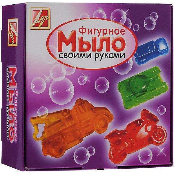 Набор для изготовления мыла Машины ЛучНаборы для создания мыла<br>Характеристики:<br><br>• возраст: от 7 лет<br>• в наборе: мыльная основа (прозрачная, белая) 200 гр; красители пищевые 3 шт по 5 мл (желтый, красный, синий); форма для мыла в виде мотоцикла (9х5,5х1,5 см); форма для мыла в виде танка (8,5х5,3х1,5 см); форма для мыла в виде пожарной машины (10х5,5х2 см); форма для мыла в виде легкового автомобиля (8,5х4,5х2 см); пластиковый стакан; стек; инструкция на русском языке.<br>• упаковка: картонная коробка<br>• размер упаковки: 18х18х8 см.<br>• вес: 355 гр.<br><br>Набор для изготовления мыла «Машины» поможет быстро и легко освоить мыловарение и самостоятельно создать оригинальное мыло четырех разных форм. Готовое изделие станет прекрасным подарком близким и друзьям.<br><br>Набор для изготовления мыла Машины Луч можно купить в нашем интернет-магазине.<br>Ширина мм: 180; Глубина мм: 180; Высота мм: 80; Вес г: 360; Возраст от месяцев: 84; Возраст до месяцев: 2147483647; Пол: Унисекс; Возраст: Детский; SKU: 7010494;