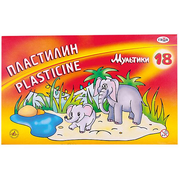Пластилин МУЛЬТИКИ, 18 цветов 360 гр. со стеком ГаммаРисование и лепка<br>Характеристики:<br><br>• возраст: от 3 лет<br>• в наборе: 18 цветов (брусков) пластилина, стек<br>• размер бруска пластилина: 2,4х6,7х0,7 см.<br>• общая масса пластилина: 360 гр.<br>• упаковка: картонная коробка<br>• размер упаковки: 25х16х2,5 см.<br>• вес: 420 гр.<br><br>Пластилин «Мультики» предназначен для лепки и моделирования.<br><br>Пластилин изготовлен из высококачественных компонентов, обладает отличными пластичными свойствами, хорошо размягчается, не липнет к рукам и не окрашивает их, идеально держит форму. Нетоксичен.<br><br>Работа с пластилином поможет малышу развить творческие способности, воображение и мелкую моторику рук. С помощью стека, прилагающегося к набору, ребенок может наносить орнамент на свои изделия, что оказывает позитивное воздействие на творческое мышление.<br><br>Пластилин МУЛЬТИКИ, 18 цветов 360 гр. со стеком Гамма можно купить в нашем интернет-магазине.<br>Ширина мм: 250; Глубина мм: 160; Высота мм: 20; Вес г: 410; Возраст от месяцев: 36; Возраст до месяцев: 2147483647; Пол: Унисекс; Возраст: Детский; SKU: 7010502;
