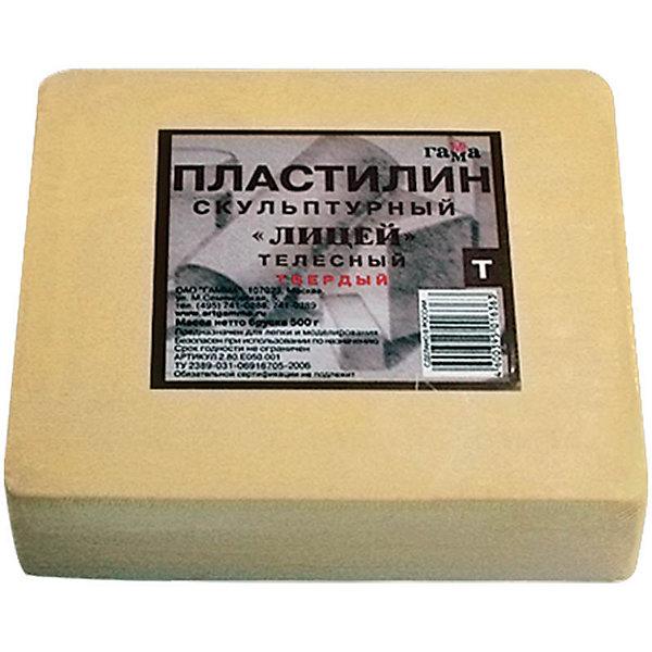Пластилин скульптурный ТЕЛЕСНЫЙ Т 0.5кг ГаммаРисование и лепка<br>Характеристики:<br><br>• возраст: от 7 лет<br>• цвет: телесный<br>• твердый<br>• вес: 500 гр.<br>• упаковка: пленка<br>• размер упаковки: 10х12х3,5 см.<br><br>Твердый скульптурный пластилин предназначен для любительских и профессиональных скульптурных работ. Сохраняя все достоинства традиционного пластилина, он пластичен в процессе моделирования и при этом идеально держит форму, что позволяет создавать из него небольшие предметы, в которых требуется очень тонкая и четкая проработка формы.<br><br>Пластилин изготовлен из воскообразной массы с добавлением минеральных пигментов и наполнителей. Устойчив к температурным изменениям.<br><br>Пластилин скульптурный ТЕЛЕСНЫЙ Т 0.5кг Гамма можно купить в нашем интернет-магазине.<br><br>Ширина мм: 105<br>Глубина мм: 115<br>Высота мм: 30<br>Вес г: 505<br>Возраст от месяцев: 84<br>Возраст до месяцев: 2147483647<br>Пол: Унисекс<br>Возраст: Детский<br>SKU: 7010512