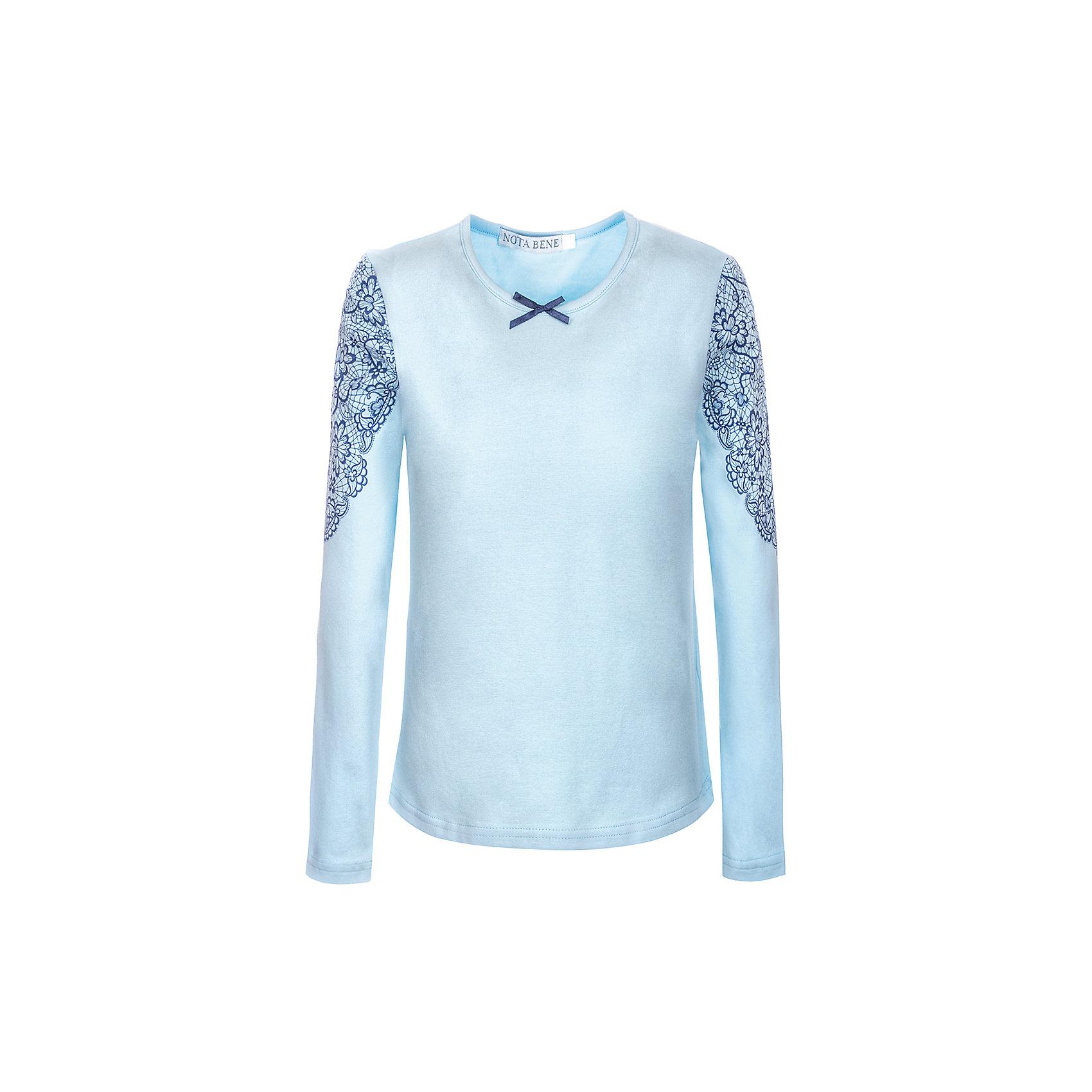 Блузка Nota Bene для девочкиБлузки и рубашки<br>Блузка с длинными рукавами с кружевной отделкой<br>Соответствует размеру<br>Рекомендована предварительная стирка<br>Состав:<br>92% хлопок; 8% лайкра<br><br>Ширина мм: 186<br>Глубина мм: 87<br>Высота мм: 198<br>Вес г: 197<br>Цвет: голубой<br>Возраст от месяцев: 72<br>Возраст до месяцев: 84<br>Пол: Женский<br>Возраст: Детский<br>Размер: 122,164,128,134,140,146,152,158<br>SKU: 7011989