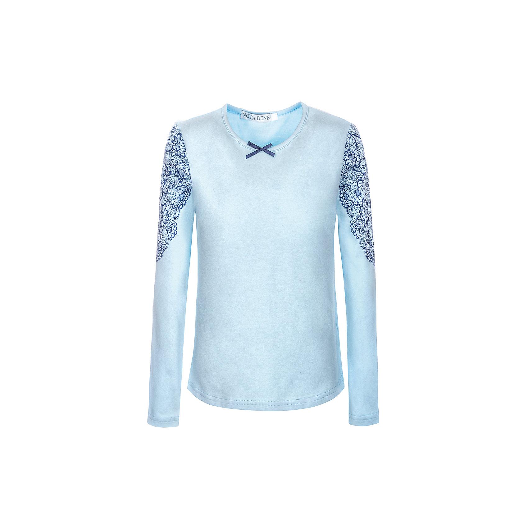 Блузка Nota Bene для девочкиБлузки и рубашки<br>Блузка с длинными рукавами с кружевной отделкой<br>Соответствует размеру<br>Рекомендована предварительная стирка<br>Состав:<br>92% хлопок; 8% лайкра<br><br>Ширина мм: 186<br>Глубина мм: 87<br>Высота мм: 198<br>Вес г: 197<br>Цвет: голубой<br>Возраст от месяцев: 120<br>Возраст до месяцев: 132<br>Пол: Женский<br>Возраст: Детский<br>Размер: 146,164,158,152<br>SKU: 7011999