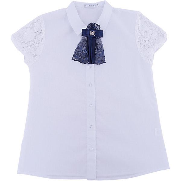 Купить Блузка Nota Bene для девочки, Россия, белый, 128, 164, 158, 134, 122, 152, 146, 140, Женский