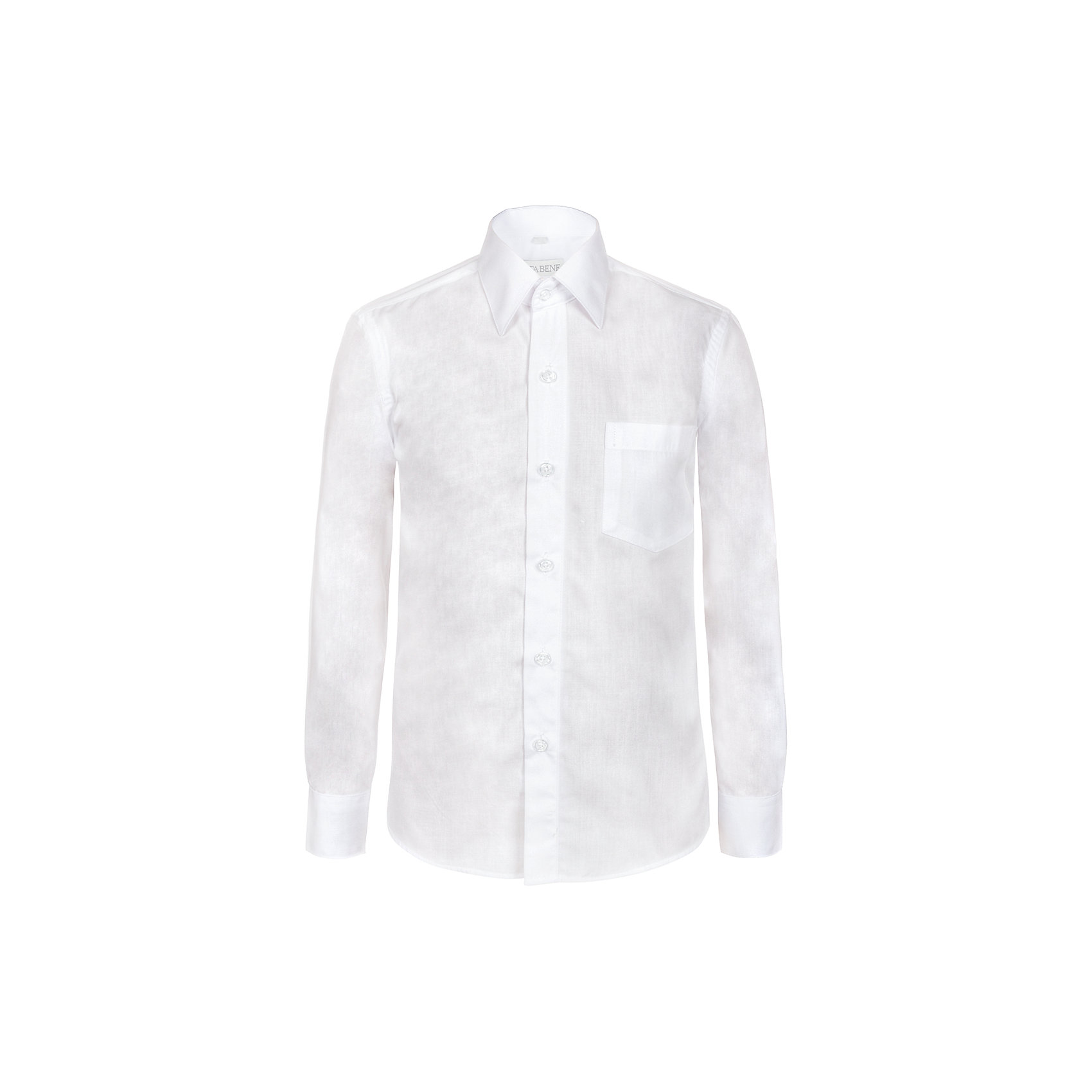 Рубашка Nota Bene для мальчикаБлузки и рубашки<br>Рубашка для мальчика текстильная,приталенная.Длинный рукав,с карманом.<br>Соответствует размеру.<br>Состав:<br>80% хлопок; 20% полиэстер<br><br>Ширина мм: 174<br>Глубина мм: 10<br>Высота мм: 169<br>Вес г: 157<br>Цвет: белый<br>Возраст от месяцев: 156<br>Возраст до месяцев: 168<br>Пол: Мужской<br>Возраст: Детский<br>Размер: 164,146,152,158<br>SKU: 7012279