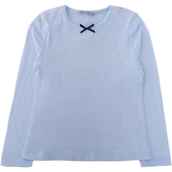 Купить Блузка Nota Bene для девочки, Россия, голубой, 122, 164, 158, 152, 146, 140, 134, 128, Женский