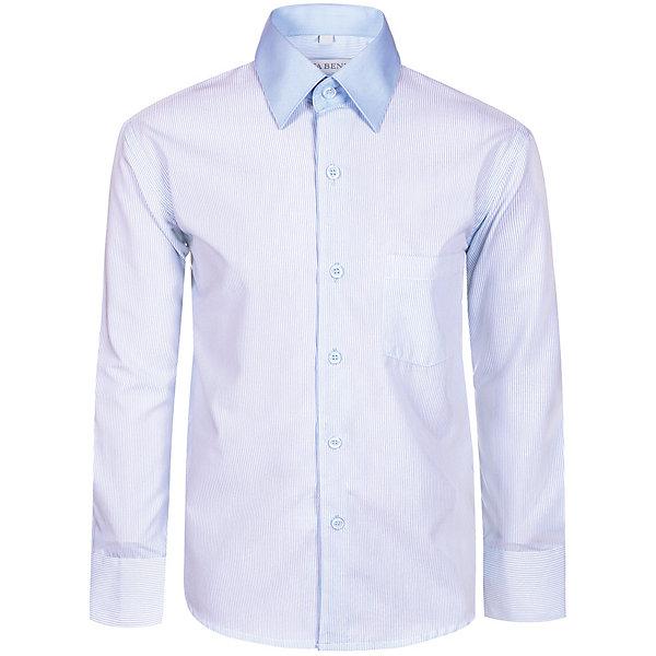 Рубашка Nota Bene для мальчикаБлузки и рубашки<br>Характеристики товара:<br><br>• цвет: голубой<br>• состав: 80% хлопок, 20% полиэстер<br>• сезон: демисезон<br>• особенности модели: школьная<br>• застежка: пуговицы<br>• длинные рукава<br>• воротник: отложной<br>• страна бренда: Россия<br>• страна производства: Россия<br><br>Такая школьная рубашка комфортно сидит на теле благодаря преобладанию в составе материала натурального хлопка. Классическая детская рубашка с длинным рукавом застегивается на пуговицы. Эта рубашка для ребенка соответствует школьному дресс-коду. <br><br>Рубашку Nota Bene (Нота Бене) для мальчика можно купить в нашем интернет-магазине.<br>Ширина мм: 174; Глубина мм: 10; Высота мм: 169; Вес г: 157; Цвет: голубой; Возраст от месяцев: 120; Возраст до месяцев: 132; Пол: Мужской; Возраст: Детский; Размер: 146,158,152; SKU: 7012430;