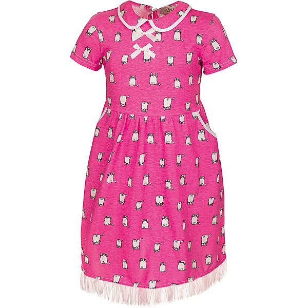 Платье M&amp;D для девочкиПлатья и сарафаны<br>Характеристики товара:<br><br>• цвет: розовый<br>• состав: 100% хлопок<br>• сезон: лето<br>• застежка: пуговица<br>• короткие рукава<br>• декор: принт, текстильные банты, бахрома<br>• страна бренда: Россия<br>• страна производства: Россия<br><br>Это платье дл девочки декорировано оригинальным принтом и бахромой. Платье для девочки легко надевается благодаря пуговице сзади. Детское платье красиво смотрится и комфортно сидит по фигуре. <br><br>Платье M&amp;D для девочки можно купить в нашем интернет-магазине.<br><br>Ширина мм: 236<br>Глубина мм: 16<br>Высота мм: 184<br>Вес г: 177<br>Цвет: розовый<br>Возраст от месяцев: 36<br>Возраст до месяцев: 48<br>Пол: Женский<br>Возраст: Детский<br>Размер: 104,98,122,116,110<br>SKU: 7012481