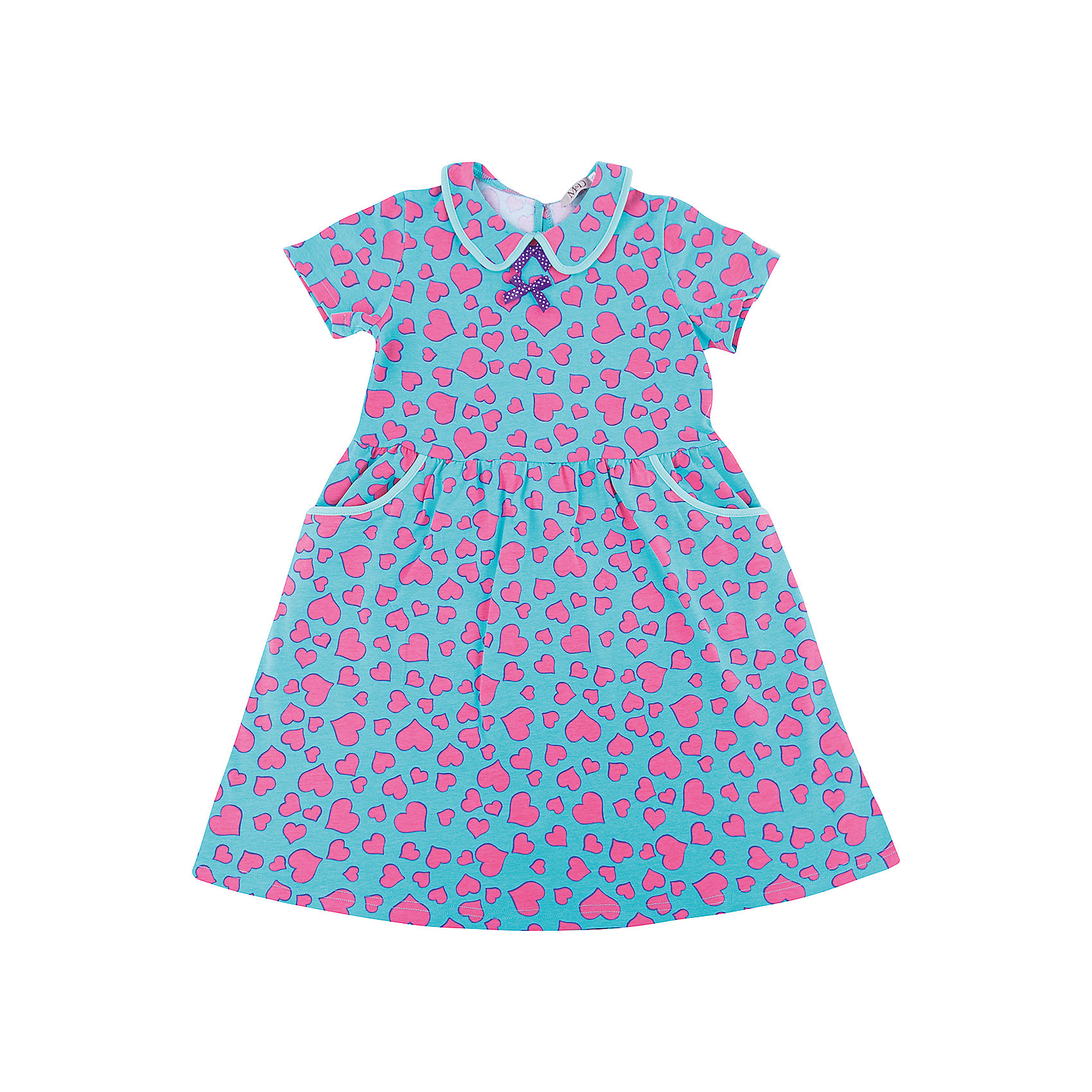 Платье M&amp;D для девочкиПлатья и сарафаны<br>Характеристики товара:<br><br>• цвет: голубой<br>• состав: 100% хлопок<br>• сезон: лето<br>• застежка: пуговица<br>• короткие рукава<br>• декор: принт, текстильные цветы<br>• страна бренда: Россия<br>• страна производства: Россия<br><br>Летнее платье дл девочки отличается оригинальным дизайном. Платье для девочки легко надевается благодаря пуговице сзади. Детское платье отлично подходит для ношения в теплую погоду. <br><br>Платье M&amp;D для девочки можно купить в нашем интернет-магазине.<br><br>Ширина мм: 236<br>Глубина мм: 16<br>Высота мм: 184<br>Вес г: 177<br>Цвет: голубой<br>Возраст от месяцев: 24<br>Возраст до месяцев: 36<br>Пол: Женский<br>Возраст: Детский<br>Размер: 98,104,110,116,122,128<br>SKU: 7012487