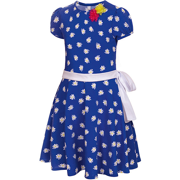 Платье M&amp;D для девочкиПлатья и сарафаны<br>Характеристики товара:<br><br>• цвет: синий<br>• состав: 100% хлопок<br>• сезон: лето<br>• контрастный пояс<br>• короткие рукава<br>• декор: текстильные цветы<br>• страна бренда: Россия<br>• страна производства: Россия<br><br>Платье для девочки легко надевается благодаря эластичному материалу. Детское платье отлично подходит для ношения в теплую погоду. Летнее платье дл девочки отличается оригинальным дизайном. <br><br>Платье M&amp;D для девочки можно купить в нашем интернет-магазине.<br><br>Ширина мм: 236<br>Глубина мм: 16<br>Высота мм: 184<br>Вес г: 177<br>Цвет: синий<br>Возраст от месяцев: 36<br>Возраст до месяцев: 48<br>Пол: Женский<br>Возраст: Детский<br>Размер: 104,98,128,122,116,110<br>SKU: 7012508