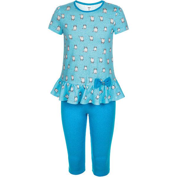 Комплект: туника и бриджи M&amp;D для девочкиКомплекты<br>Характеристики товара:<br><br>• цвет: голубой<br>• комплектация: туника и бриджи <br>• состав: 100% хлопок<br>• сезон: лето<br>• короткие рукава<br>• декор: принт, бант<br>• пояс: резинка<br>• страна бренда: Россия<br>• страна производства: Россия<br><br>Оригинальный комплект для ребенка сделан из натурального дышащего материала. Хлопковый комплект для девочки от M&amp;D стильно смотрится благодаря принту. Этот детский комплект поможет создать ребенку комфорт. <br><br>Комплект: туника и бриджи M&amp;D для девочки можно купить в нашем интернет-магазине.<br>Ширина мм: 191; Глубина мм: 10; Высота мм: 175; Вес г: 273; Цвет: голубой; Возраст от месяцев: 60; Возраст до месяцев: 72; Пол: Женский; Возраст: Детский; Размер: 116,110,104,122; SKU: 7012572;
