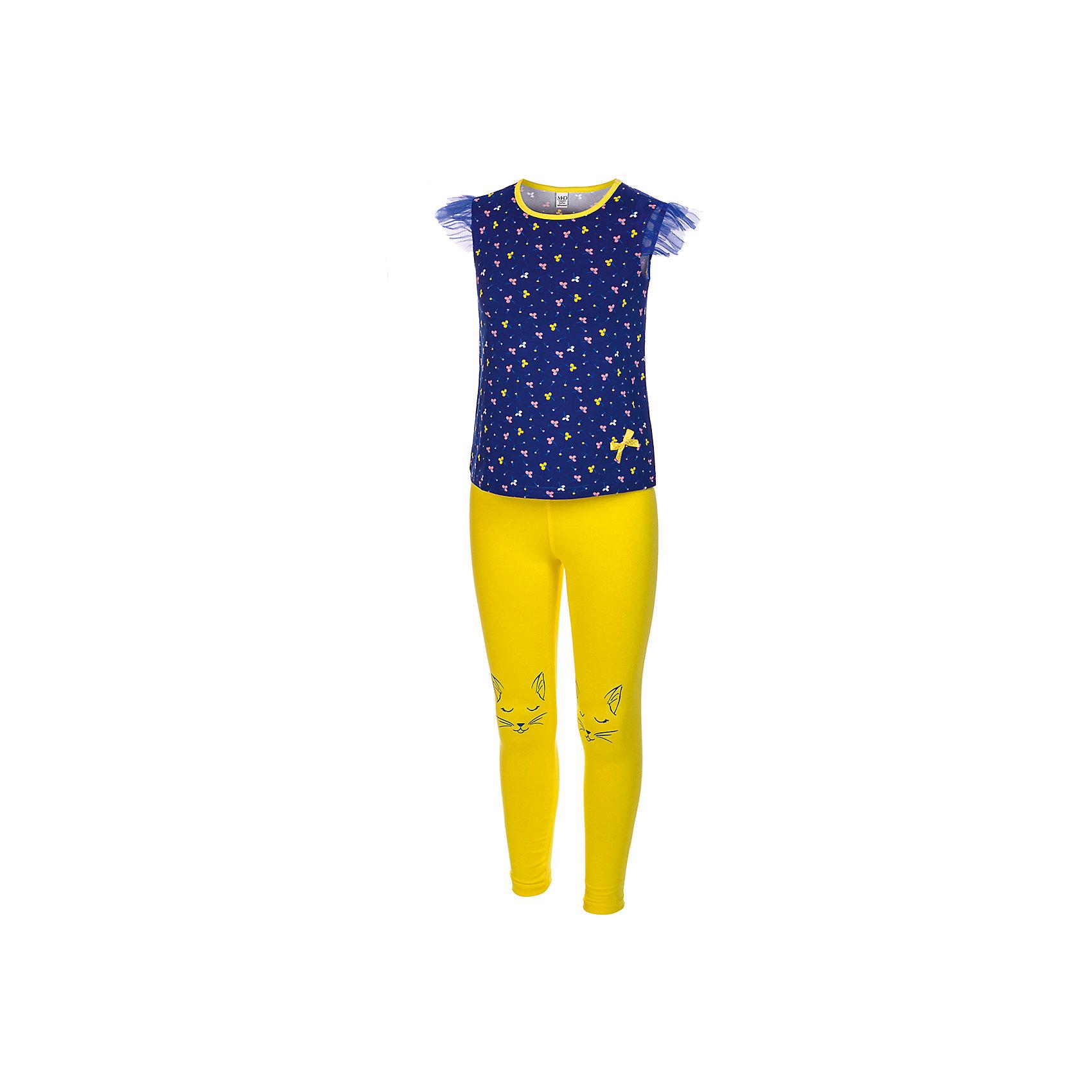 Комплект: футболка и леггинсы M&amp;D для девочкиКомплекты<br>Комплект для девочки:футболка и лосины.Соответствуют размеру.<br>Состав:<br>100% хлопок<br><br>Ширина мм: 123<br>Глубина мм: 10<br>Высота мм: 149<br>Вес г: 209<br>Цвет: белый<br>Возраст от месяцев: 48<br>Возраст до месяцев: 60<br>Пол: Женский<br>Возраст: Детский<br>Размер: 110,104<br>SKU: 7012581