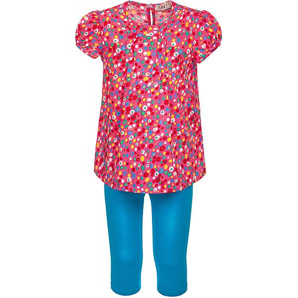 Комплект: туника и бриджи M&amp;D для девочкиКомплекты<br>Характеристики товара:<br><br>• цвет: розовый<br>• комплектация: туника и бриджи <br>• состав: 100% хлопок<br>• сезон: лето<br>• застежка: пуговица<br>• короткие рукава<br>• декор: принт<br>• пояс: резинка<br>• страна бренда: Россия<br>• страна производства: Россия<br><br>Легкий комплект для ребенка отличается оригинальным принтом. Комплект: туника и бриджи M&amp;D для девочки легко надевается благодаря эластичному материалу и пуговице сзади на тунике. Детский хлопковый комплект отлично подходит для ношения в теплую погоду. <br><br>Комплект: туника и бриджи M&amp;D для девочки можно купить в нашем интернет-магазине.<br><br>Ширина мм: 191<br>Глубина мм: 10<br>Высота мм: 175<br>Вес г: 273<br>Цвет: белый<br>Возраст от месяцев: 36<br>Возраст до месяцев: 48<br>Пол: Женский<br>Возраст: Детский<br>Размер: 104,122,116,110<br>SKU: 7012652
