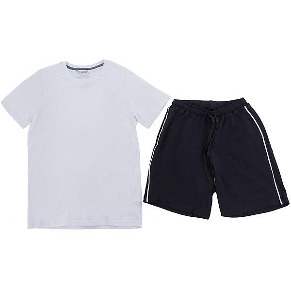 Комплект: футболка и шорты Nota Bene для мальчикаСпортивная форма<br>Характеристики товара:<br><br>• цвет: белый, черный<br>• комплектация: футболка и шорты <br>• состав: 100% хлопок<br>• сезон: лето<br>• особенности модели: спортивный стиль<br>• короткие рукава<br>• пояс: резинка, шнурок<br>• страна бренда: Россия<br>• страна производства: Россия<br><br>Этот детский комплект отличается продуманным лаконичным дизайном. Трикотажный комплект для ребенка сделан из натурального дышащего материала. Хлопковый комплект для мальчика аккуратно смотрится и комфортно сидит по фигуре. <br><br>Комплект: футболка и шорты Nota Bene для мальчика можно купить в нашем интернет-магазине.<br>Ширина мм: 191; Глубина мм: 10; Высота мм: 175; Вес г: 273; Цвет: белый; Возраст от месяцев: 144; Возраст до месяцев: 156; Пол: Мужской; Возраст: Детский; Размер: 158; SKU: 7012671;