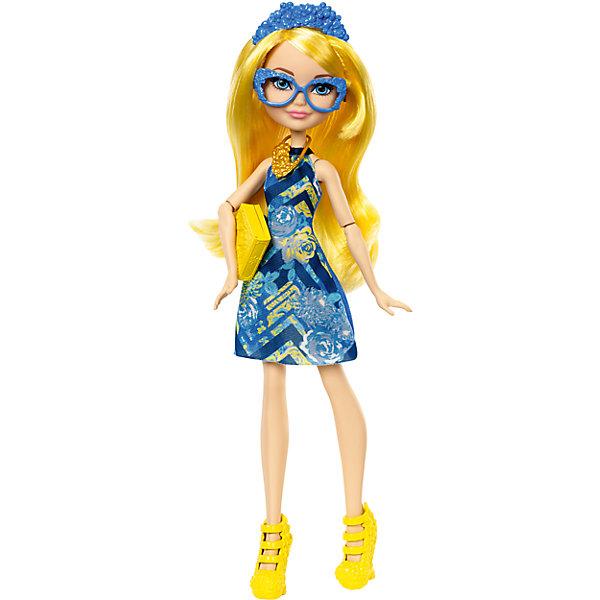 Кукла-школьница Ever After High Блонди ЛоксКуклы<br>Характеристики:<br><br>• тип игрушки: кукла;<br>• возраст: от 6 лет;<br>• размер: 6,5x32,5х15 см;<br>• вес: 219 гр; <br>• комплектация: кукла, подставка, аксессуары;<br>• упаковка: картонная коробка блистерного типа;<br>• материал: пластик, текстиль;<br>• бренд:  Mattel.<br><br>Кукла-школьница Ever After High «Блонди Локс» - дочь знаменитых сказочных персонажей. Каждая героиня имеет характерные признаки, по которым ее сразу можно узнать, а ее стиль в одежде отображает ее суть. Куклы Ever After High наделены продуманными образами, где не оставлена без внимания ни одна деталь.<br><br>Волшебные принцессы готовы взяться за учебу и повеселиться от души в потрясающих нарядах с роскошными деталями, отражающими их личность. Чтобы дополнить образ, выбери для каждой аксессуары: ожерелье, корону, очки и обувь. А еще у каждой куклы есть книга. Ведь они возвращаются к учебе. Можно собрать всю серию кукол-школьниц и разыгрывать увлекательные сюжеты.<br><br>Куклу-школьницу Ever After High «Блонди Локс» можно купить в нашем интернет-магазине.<br>Ширина мм: 325; Глубина мм: 65; Высота мм: 150; Вес г: 219; Возраст от месяцев: 72; Возраст до месяцев: 2147483647; Пол: Женский; Возраст: Детский; SKU: 7014684;
