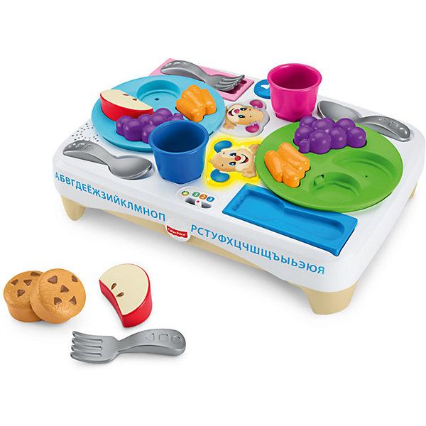 Игровой набор Fisher-Price Учимся делитьсяДругие наборы<br>Характеристики товара:<br><br>• возраст: от 3 лет<br>• материал: пластик;<br>• размер упаковки: 33X37X12,5<br><br>Этот интерактивный набор посуды поможет малышам усвоить манеры поведения за столом через игры с едой! Блюда, посуду и чашки нужно расставить по нужным местам на подносе— задача не из легких! <br><br>Если ребенок справился с головоломкой и накрыл на стол правильно, прозвучит веселая песенка или фраза о хороших манерах, сочетаниях еды и о том, как важно делиться! «Волшебные» подносы понимают, что уже есть на столе, а чего не хватает! <br><br>Набор посуды «Скажи «Пожалуйста»» будет расти вместе с ребенком: технология «Уровни обучения»™ поможет малышу продолжать учиться! <br><br>На каждом уровне— свои звуки, песни, мелодии и фразы, подходящие именно для этого возраста.<br><br>Игровой набор Fisher-Price Учимся делиться можно купить в нашем интернет-магазине.<br>Ширина мм: 330; Глубина мм: 125; Высота мм: 370; Вес г: 748; Возраст от месяцев: 18; Возраст до месяцев: 36; Пол: Унисекс; Возраст: Детский; SKU: 7014715;