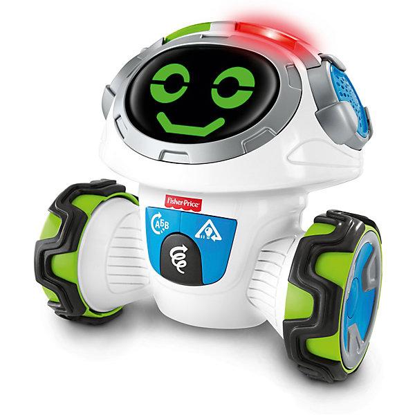 Робот Моби Fisher-PriceИнтерактивные игрушки для малышей<br>Характеристики:<br><br>• тип игрушки: робот;<br>• возраст: от 3 лет;<br>• размер: 34,5x33х14 см;<br>• вес: 1,3 кг; <br>• упаковка: картонная коробка;<br>• материал: пластик;<br>• бренд:  Mattel.<br><br>Робот Моби Fisher-Price может разворачиваться на 360 градусов и ехать куда угодно: дети-дошкольники будут рады побегать с ним и заодно научатся следовать указаниям и критически оценивать окружающую обстановку.<br><br>Есть 3 увлекательных режима и 6 игр: дети будут активно думать (и двигаться), отвечая на вопросы бодрого робота, анализировать ситуацию и следовать его ненавязчивым указаниям во время забавной игры. А еще они могут продемонстрировать стильные движения, веселясь и танцуя. Дети будут рады внимательно слушать и активно двигаться в компании интерактивного обучающего робота.<br><br>Робота Моби Fisher-Price можно купить в нашем интернет-магазине.<br>Ширина мм: 330; Глубина мм: 140; Высота мм: 345; Вес г: 1394; Возраст от месяцев: 36; Возраст до месяцев: 72; Пол: Унисекс; Возраст: Детский; SKU: 7014717;