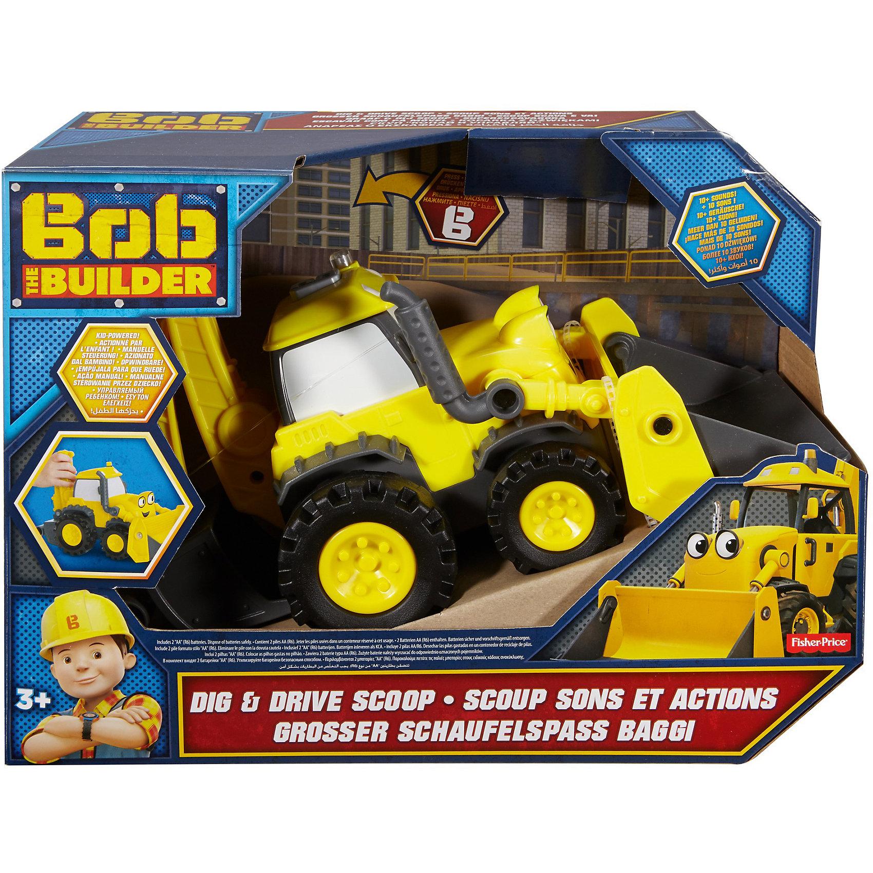 Экскаватор Fisher-Price Боб-строитель Скуп Копай и уравляйМашинки<br>Характеристики товара:<br><br>• возраст: от 3 лет<br>• материал: пластик;<br>• размер упаковки: 26X34,5X15,5 см;<br>• страна бренда: США<br>• страна изготовоитель: Китай<br><br>Скуп — не просто трудяга-экскаватор: он лучший друг Боба-строителя. Теперь ваш маленький строитель сможет управлять Скупом по-новому с этим набором «Копай глубже». <br><br>Игрушечный строительный экскаватор двигается от толчка руки ребенка. Машина издает настоящие звуки работающего экскаватора; передние и задние ковши отсоединяются, можно включить подсветку на крыше и вокруг рта, а колеса обеспечивают реалистичную мобильность и управляемость. <br><br>Поднимите и опустите передний ковш Скупа с помощью выхлопной трубы и нажмите кнопку «В» на крыше, чтобы включить звук и подсветку. Рукоять экскаватора с задним ковшом полностью выдвигается и убирается для компактности.<br><br>Экскаватор Fisher-Price Боб-строитель Скуп Копай и уравляй можно купить в нашем интернет-магазине.<br><br>Ширина мм: 260<br>Глубина мм: 155<br>Высота мм: 345<br>Вес г: 1104<br>Возраст от месяцев: 36<br>Возраст до месяцев: 2147483647<br>Пол: Унисекс<br>Возраст: Детский<br>SKU: 7014785